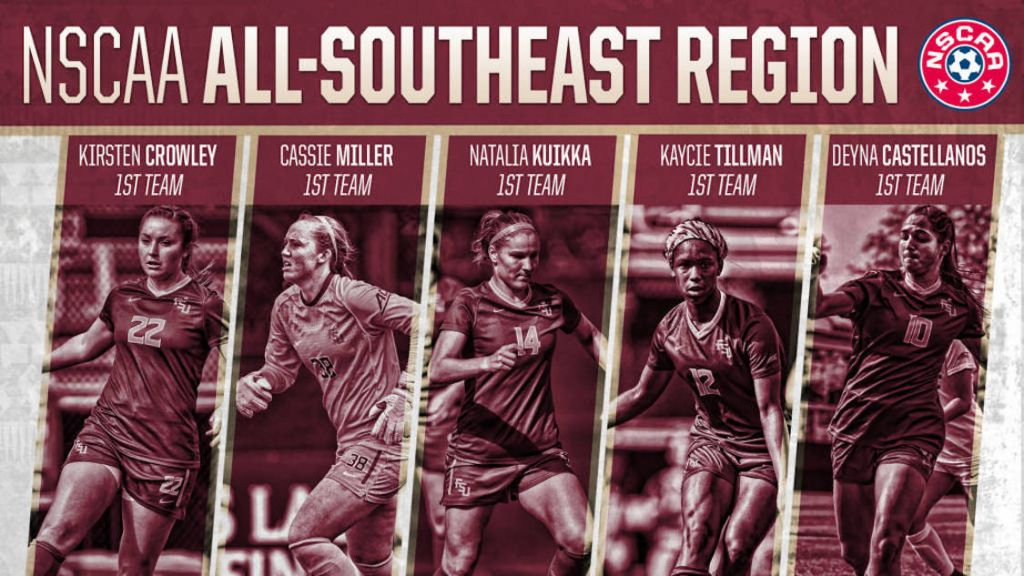 Five Seminoles Named To NSCAA All-Southeast Region First Team