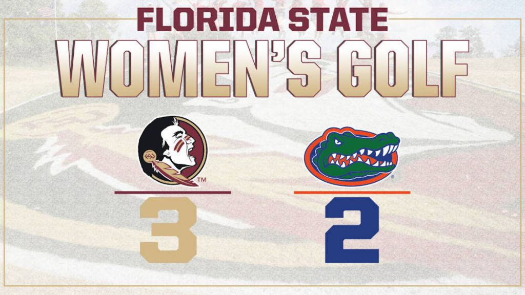 No. 3 Women's Golf Tops No. 6 Florida