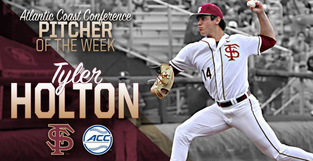 Holton Named ACC Pitcher of the Week