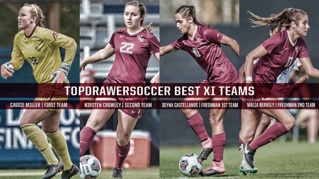 Four Seminoles Earn TopDrawerSoccer Accolades