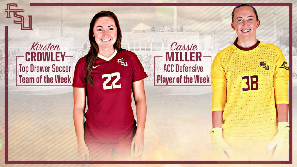 Cassie Miller & Kirsten Crowley Earn ACC And National Awards