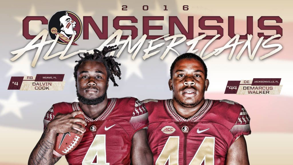 It's Official: Cook, Walker Named Consensus All-Americans by NCAA