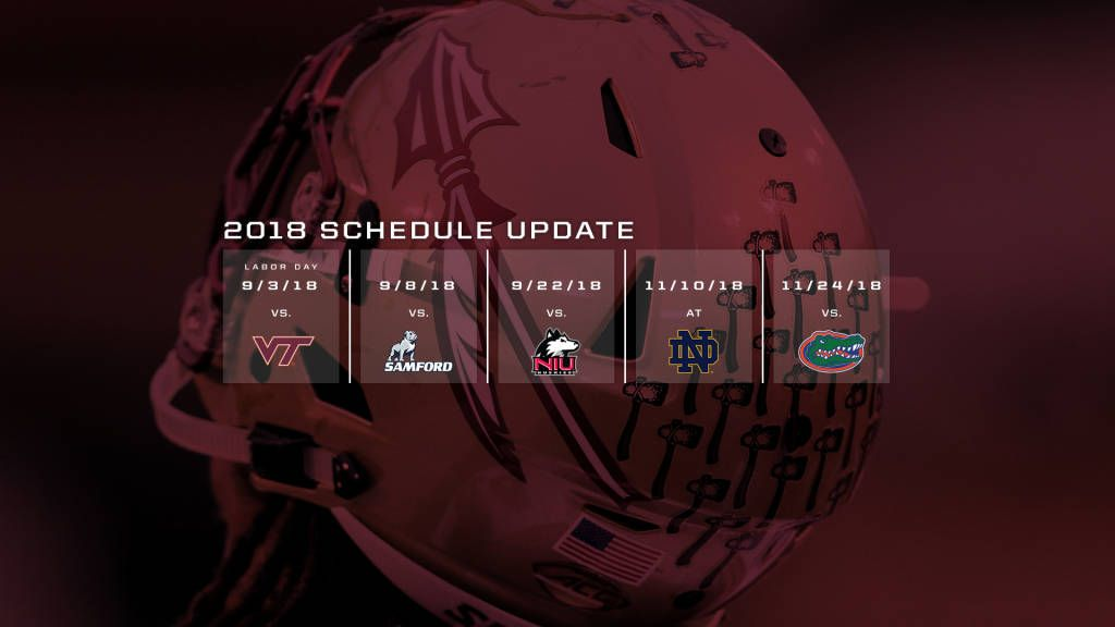 2018 Football Schedule Update