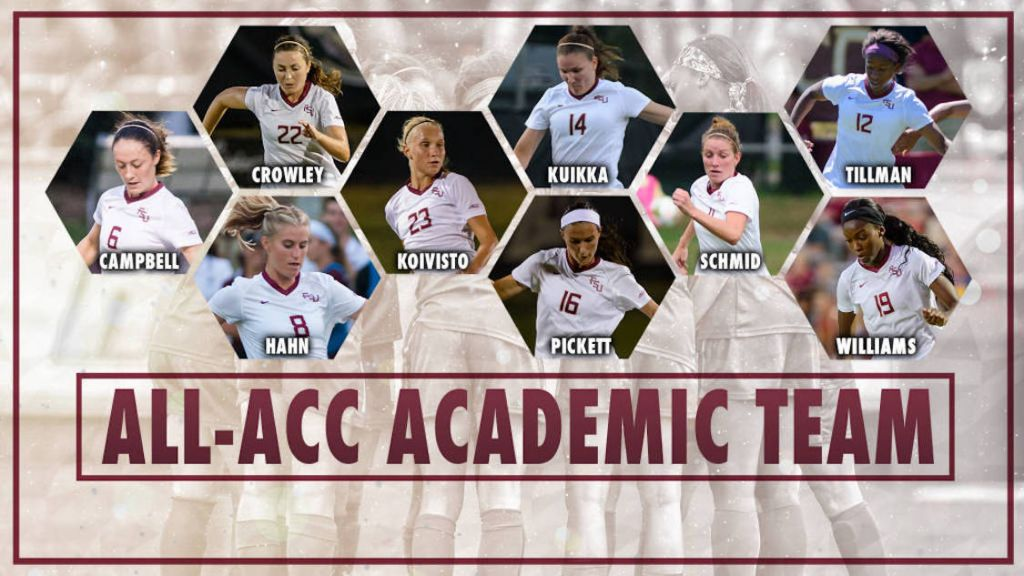 Seminoles Place Nine On 2015 All-ACC Academic Team