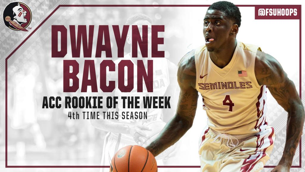 Bacon Named ACC Rookie Of The Week For School Record 4th Time