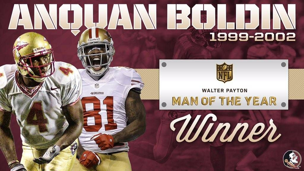 Former Nole Boldin Named Walter Payton Man Of The Year