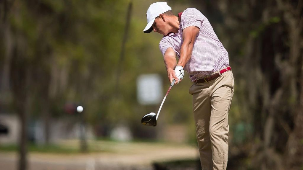 Carlson Leads Men's Golf to Second