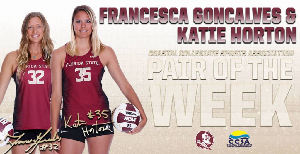Horton And Goncalves Earn CCSA Pair Of the Week Honors