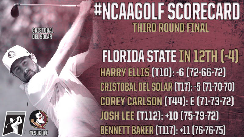 Men's Golf Reaches Final Round of Stroke Play