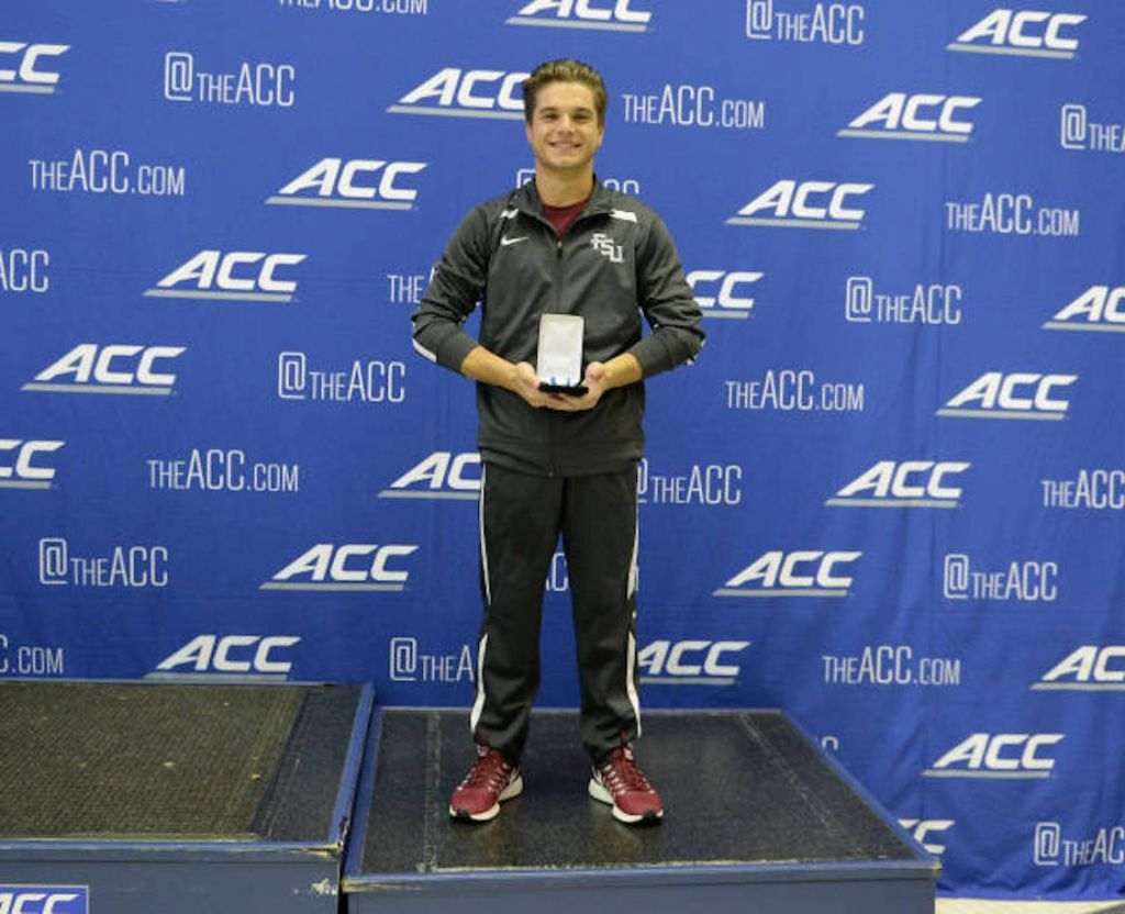 Carlson Wins ACC Meet Diving MVP