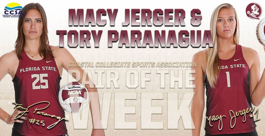 Paranagua And Jerger Earn CCSA Pair Of the Week Honors