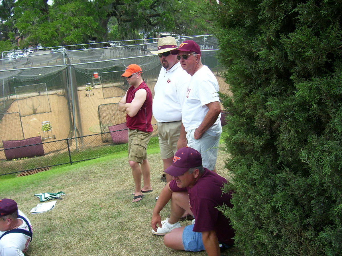 Hokie fans trying to find a breeze.