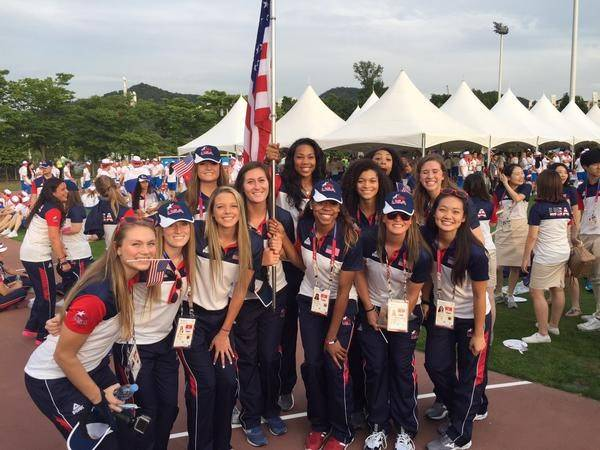 Team USA before the opening ceremony.