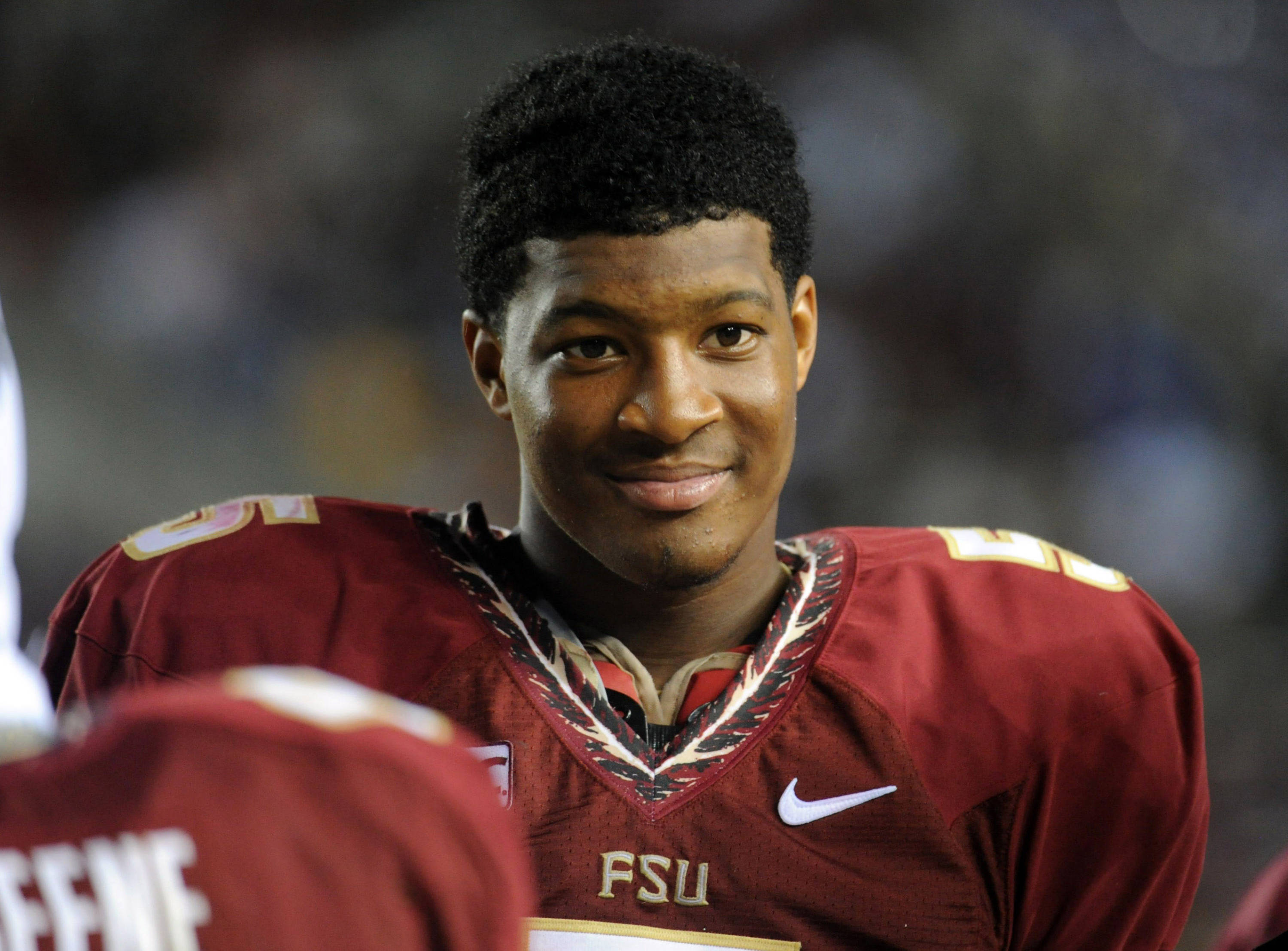 Florida State Seminoles quarterback Jameis Winston (5) on the sidelines during the second half of the game against the Bethune-Cookman Wildcats. (Melina Vastola-USA TODAY Sports)