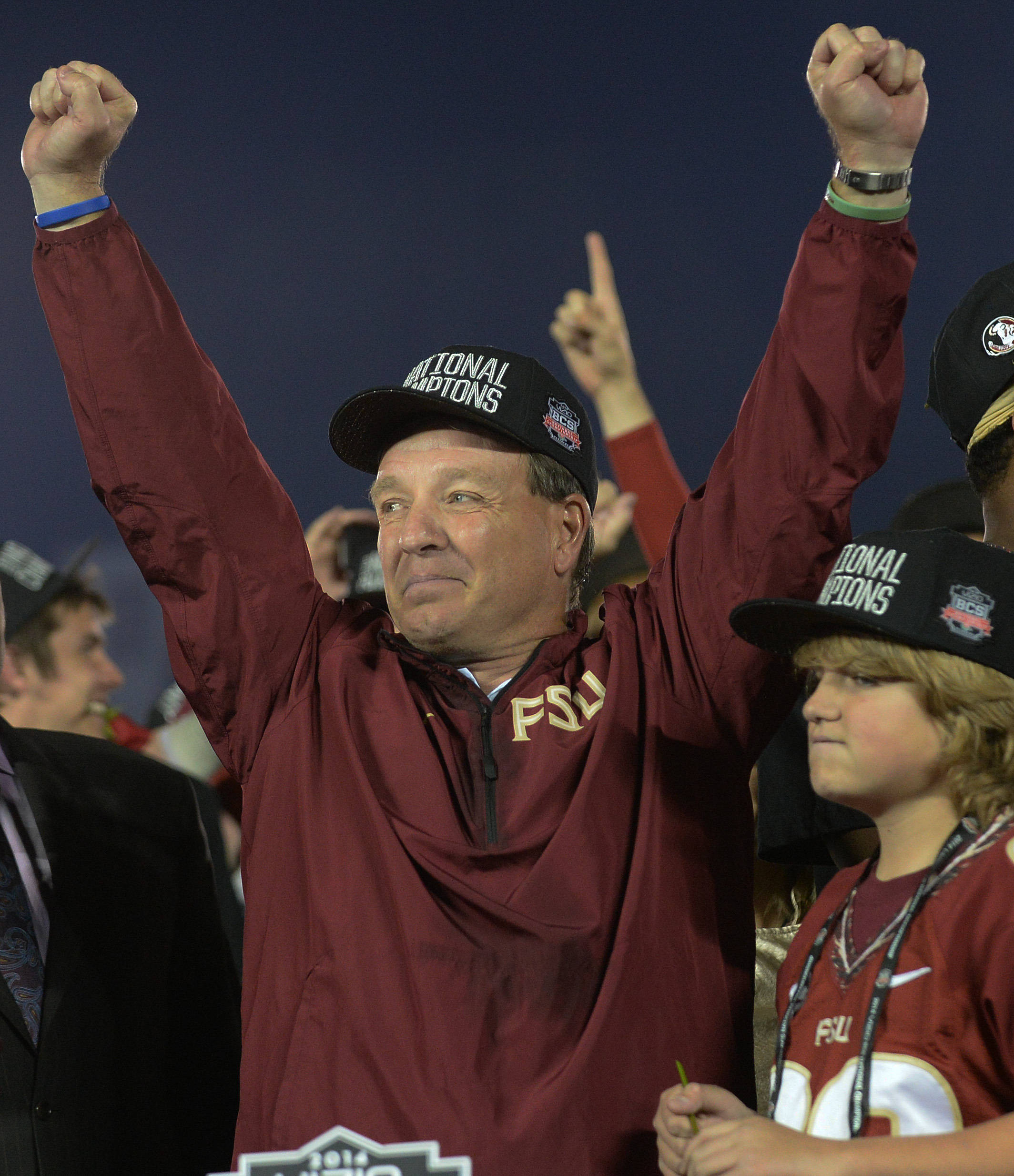 Jimbo Fisher celebrates FSU's third national title