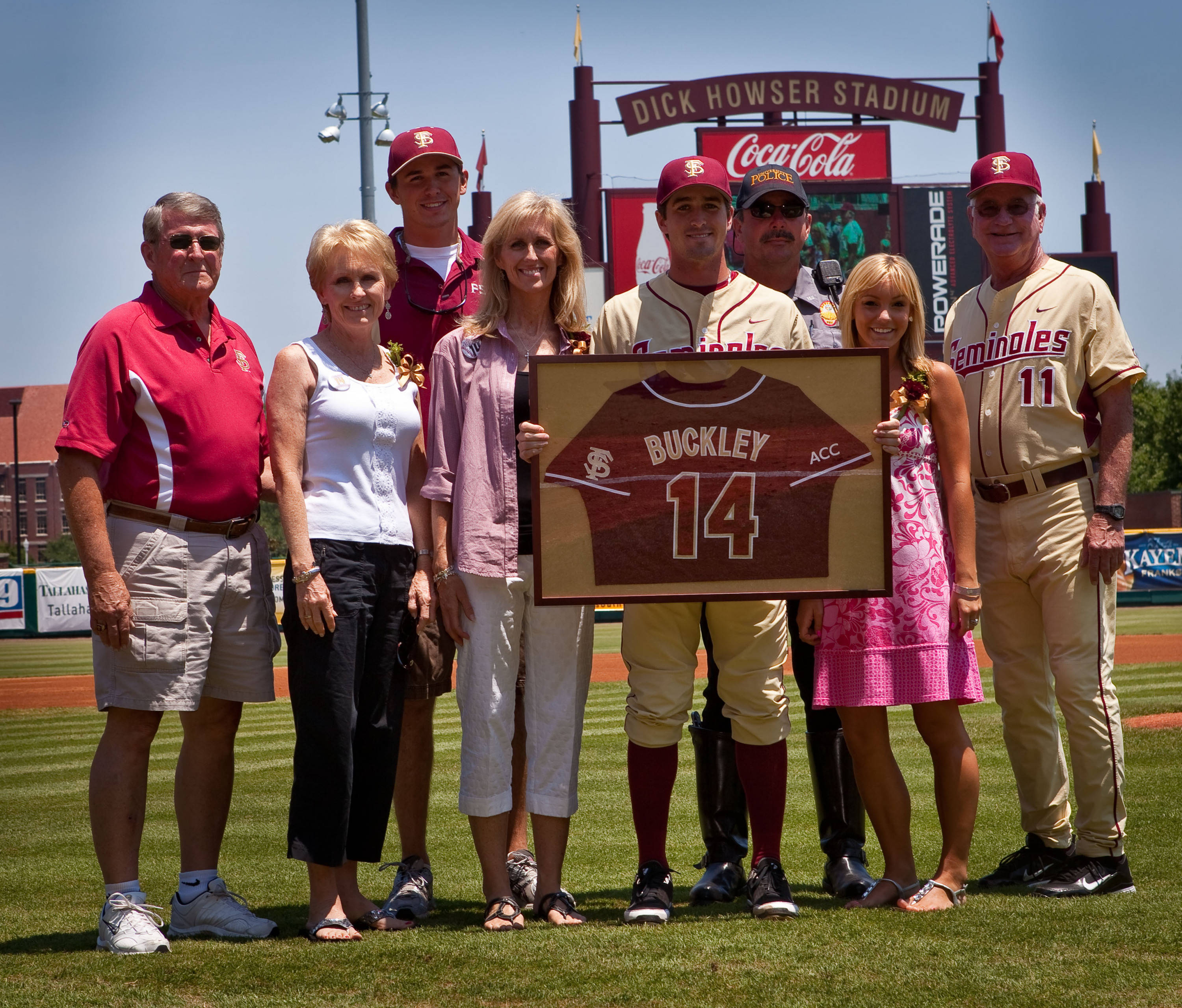 FSU senior pitcher Tye Buckley and his family.