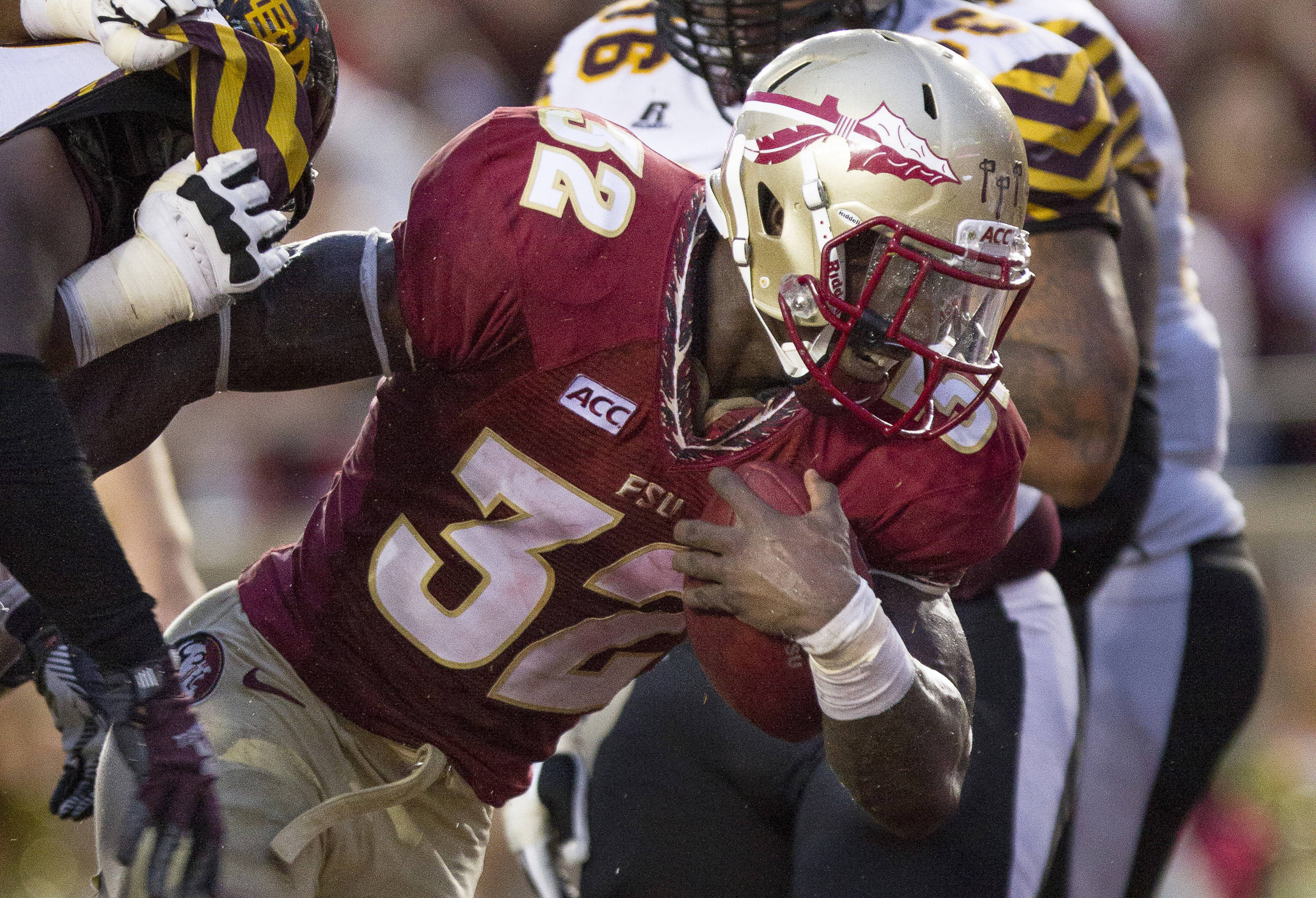 James Wilder, Jr. (32) carries the ball during FSU Football's 54-6 win over Bethune-Cookman on September 21, 2013 in Tallahassee, Fla