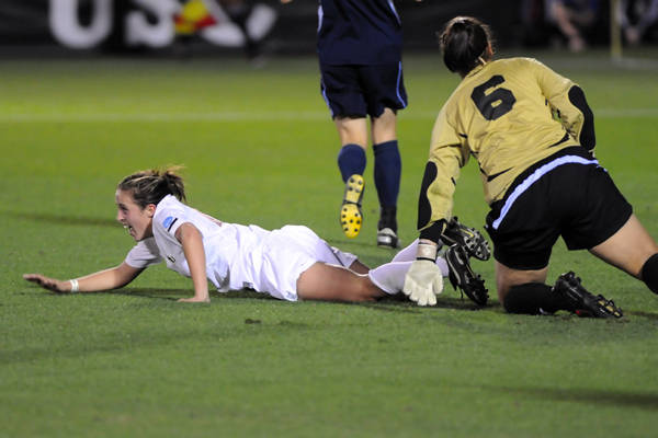 Amanda DaCosta after scoring the eventual game-winner in the 72nd minute