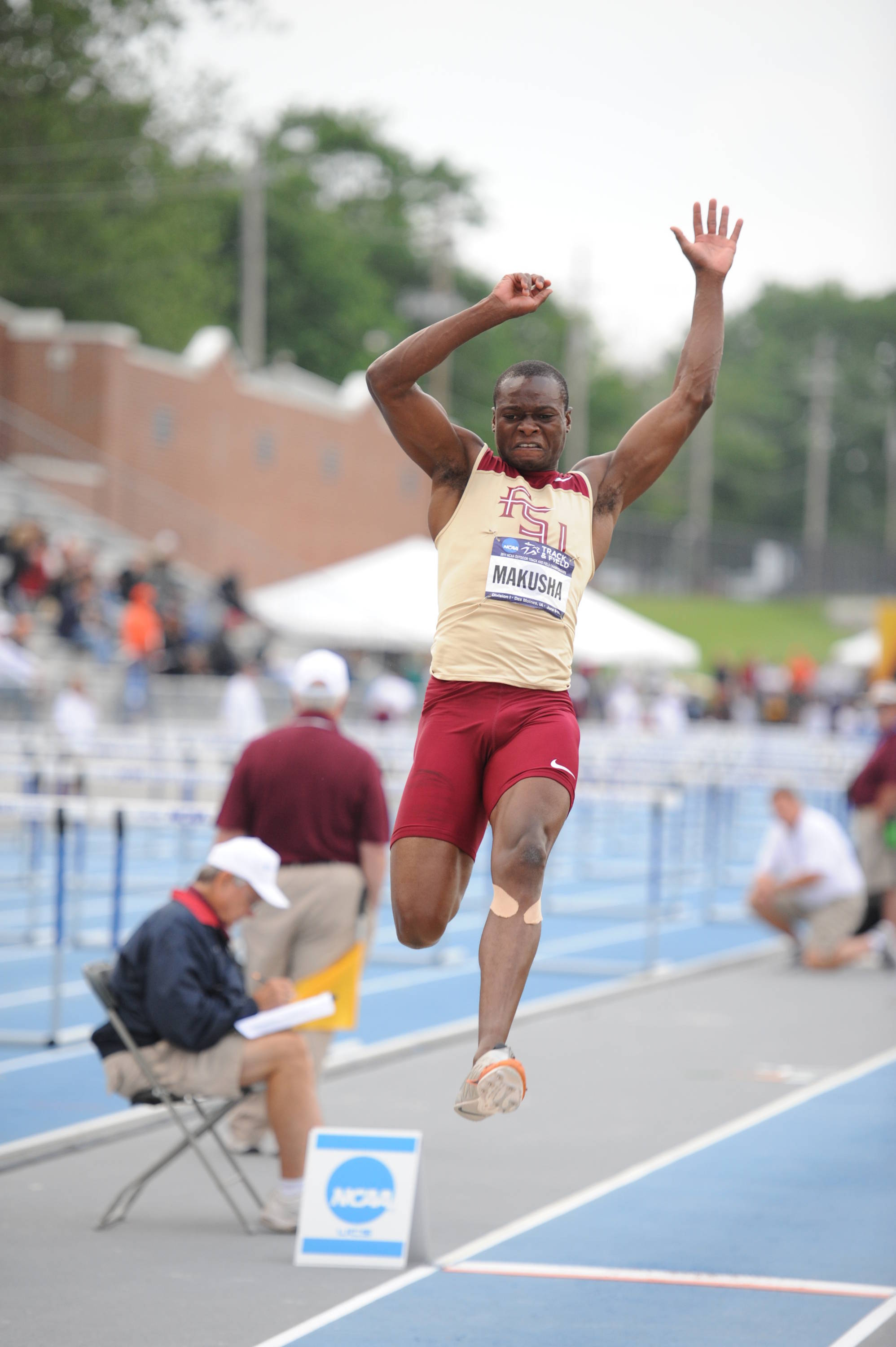 Ngoni followed his 100 win by soaring 18.40 in the long jump - the longest winning distance in 18 years at the meet - for his second victory and a place alongside track legends Carl Lewis and Jesse Owens.