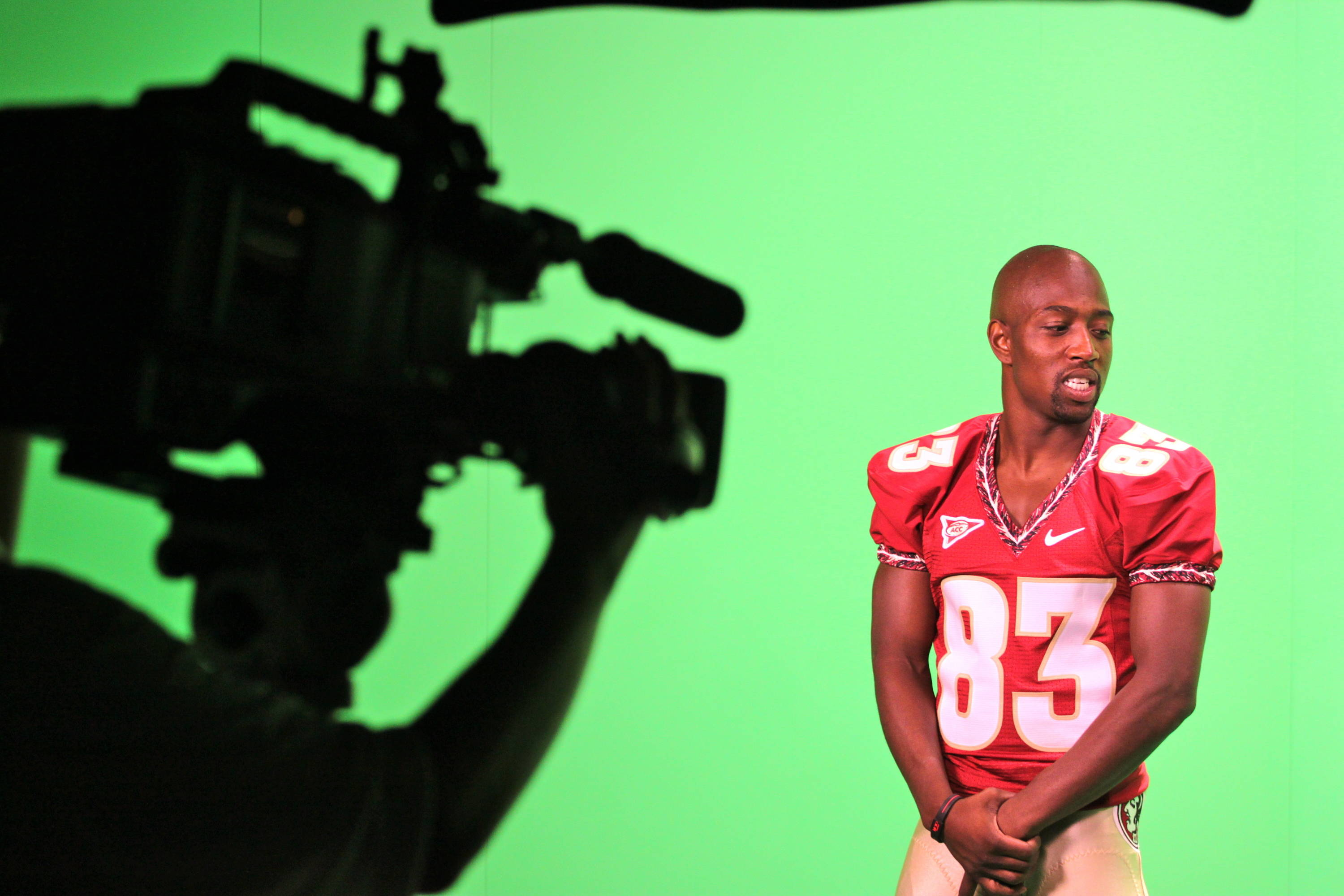 Bert Reed being shot on the green screen in Seminole Productions.