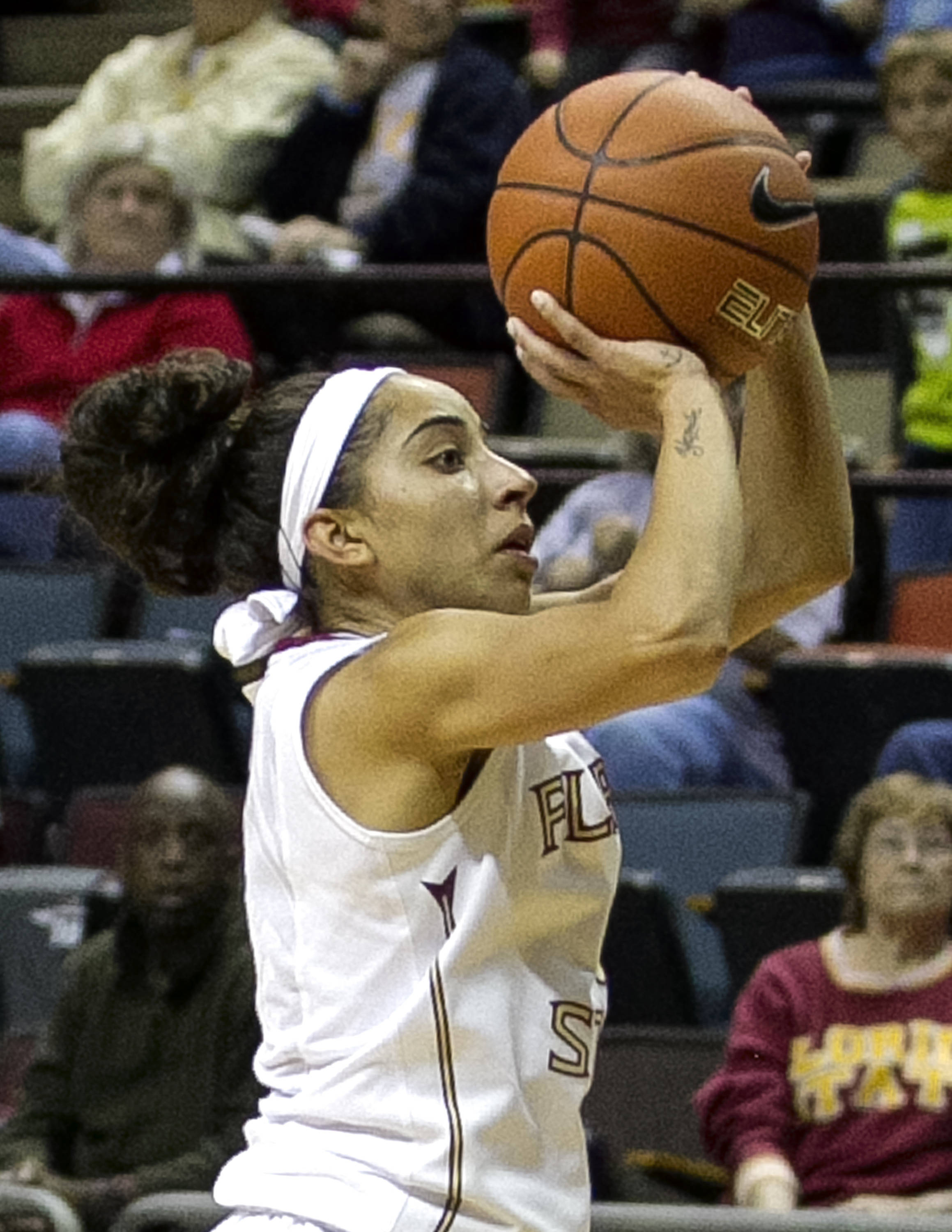 Cheetah Delgado (5), FSU vs Stetson, 11-29-13,  (Photo by Steve Musco)