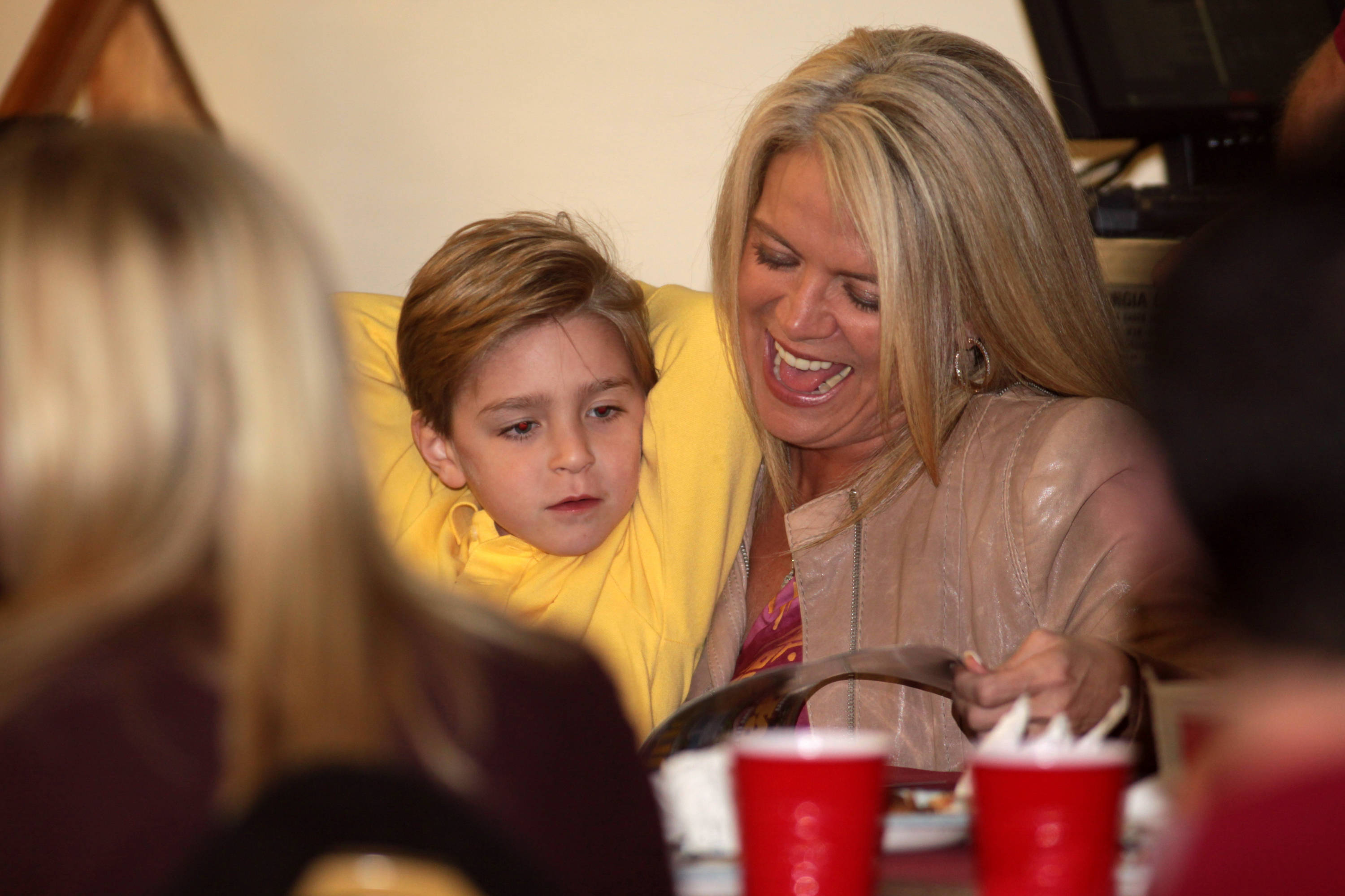 Candi Fisher and son Ethan