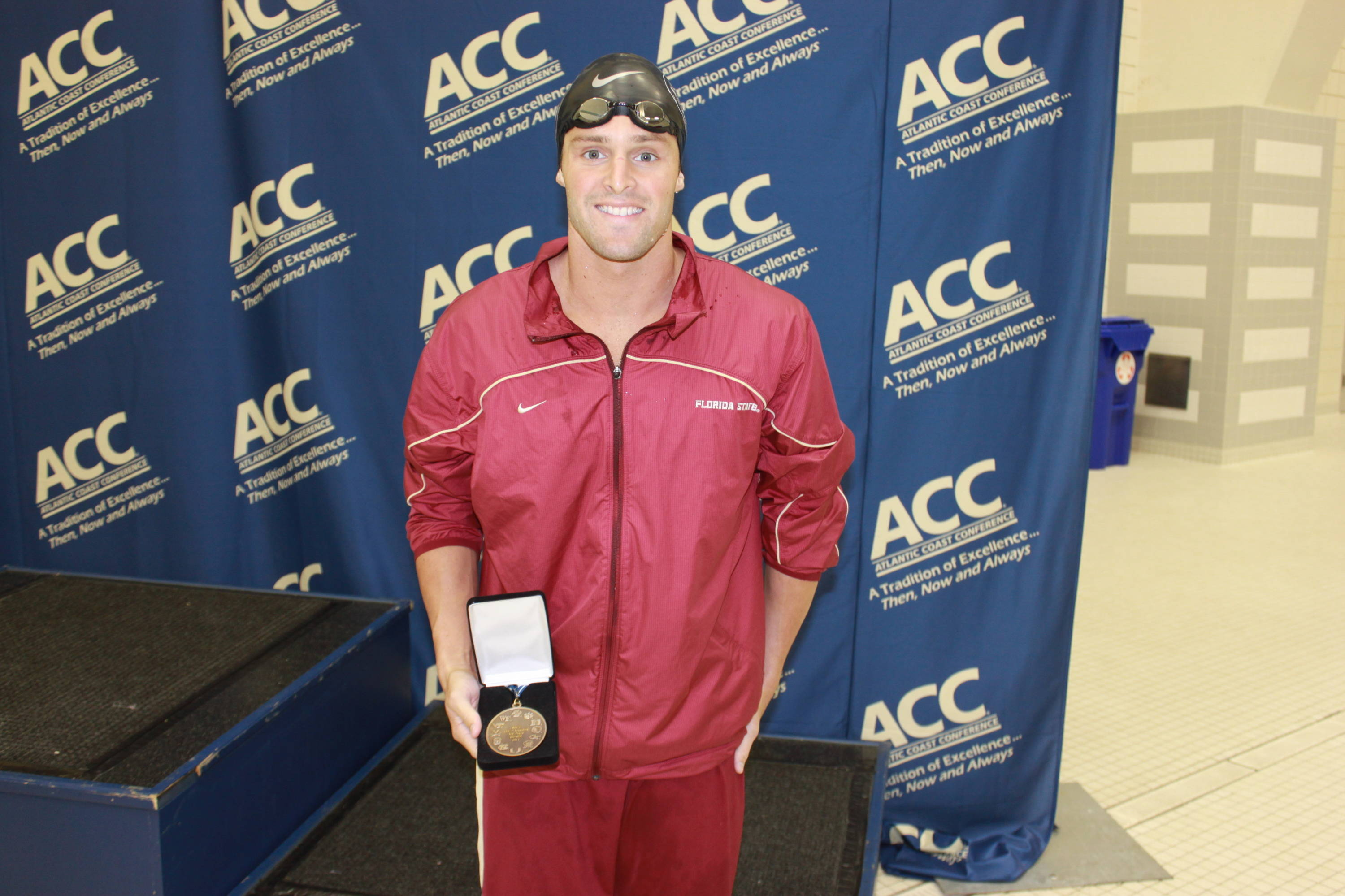 Robby Hayes with his third-place medal