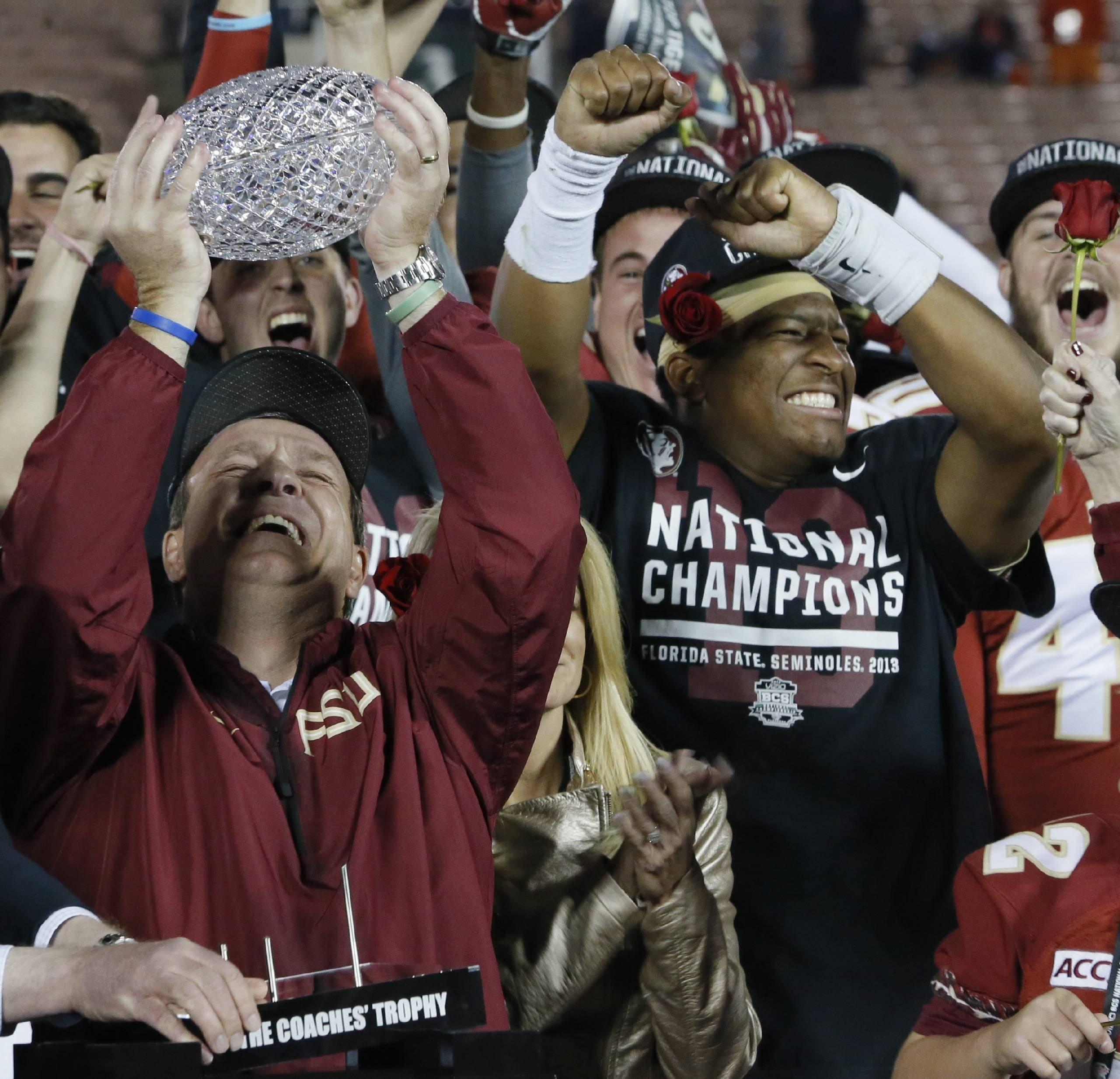 Jimbo Fisher and Jameis Winston: national champions