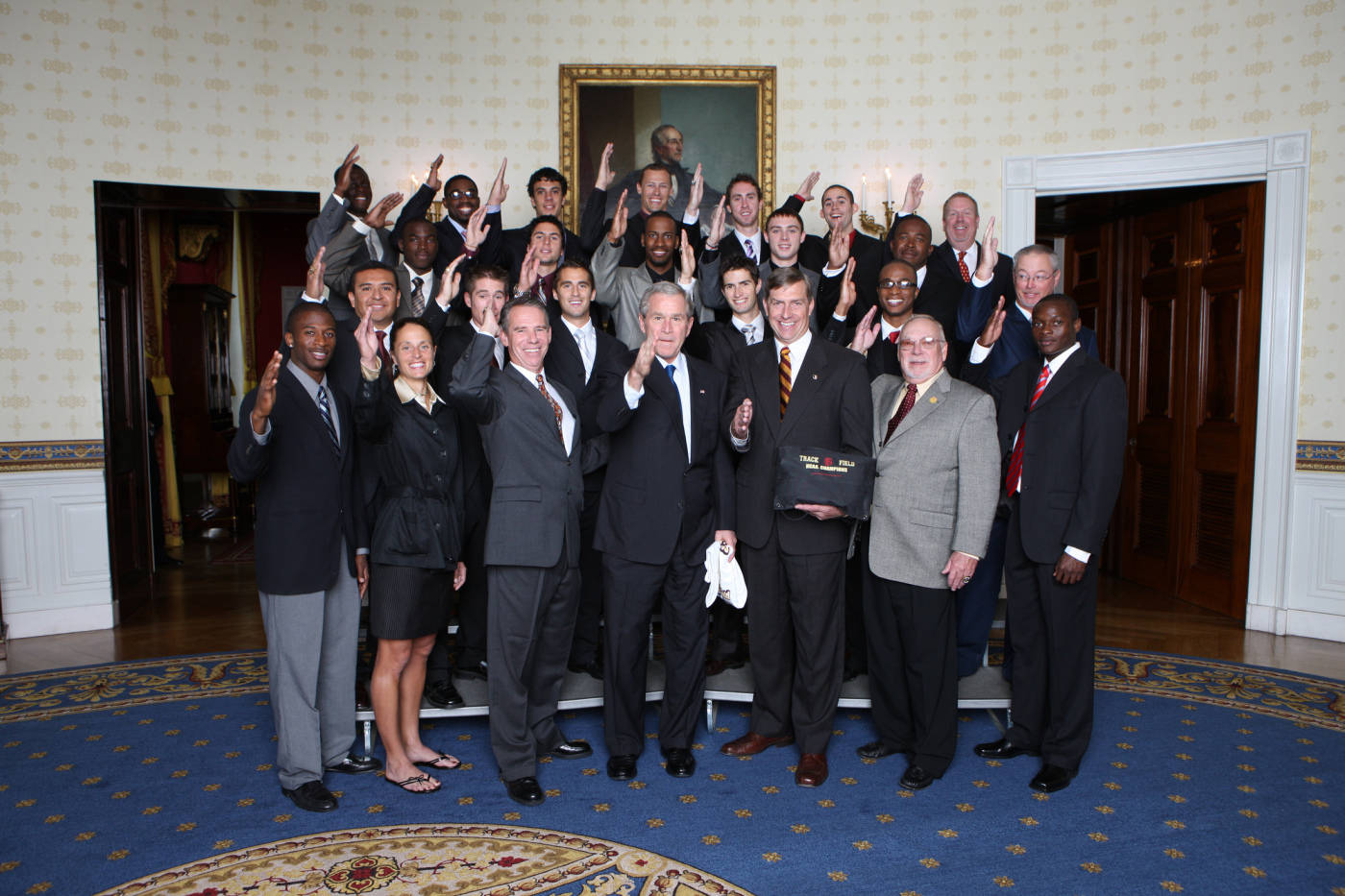 2008 Track and Field Champions trip to the White House.