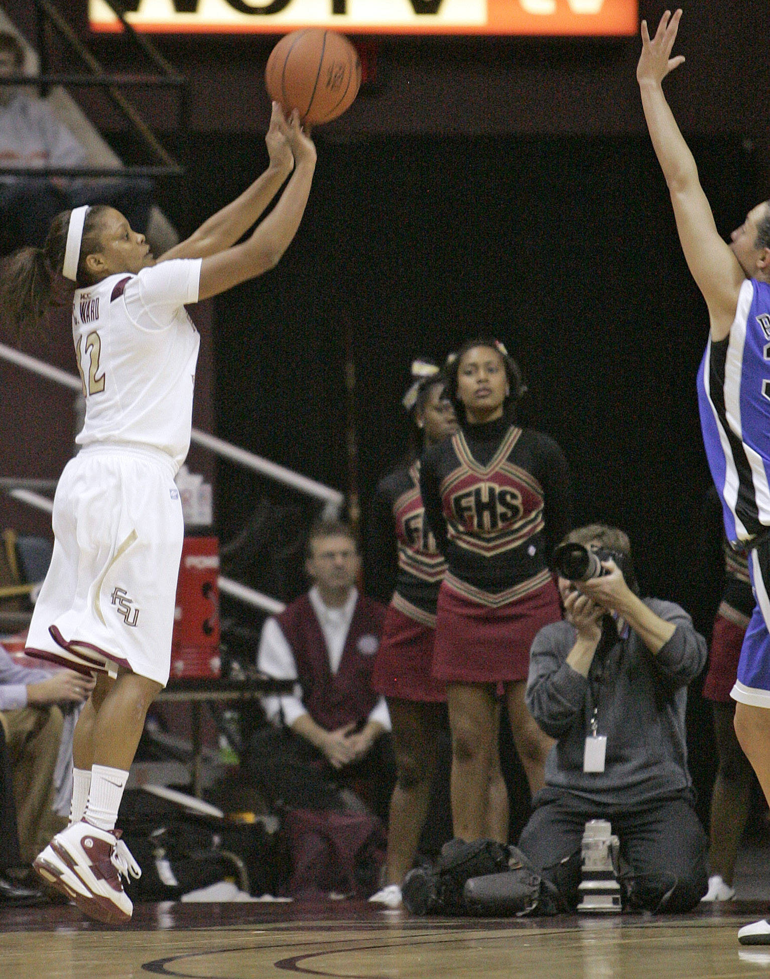 Florida State's Courtney Ward shoots against Duke  during an NCAA college basketball game on Friday, Jan. 14, 2011, in Tallahassee, Fla. Ward led all scorers with 25 points but Duke won 87-70. (AP Photo/Steve Cannon)