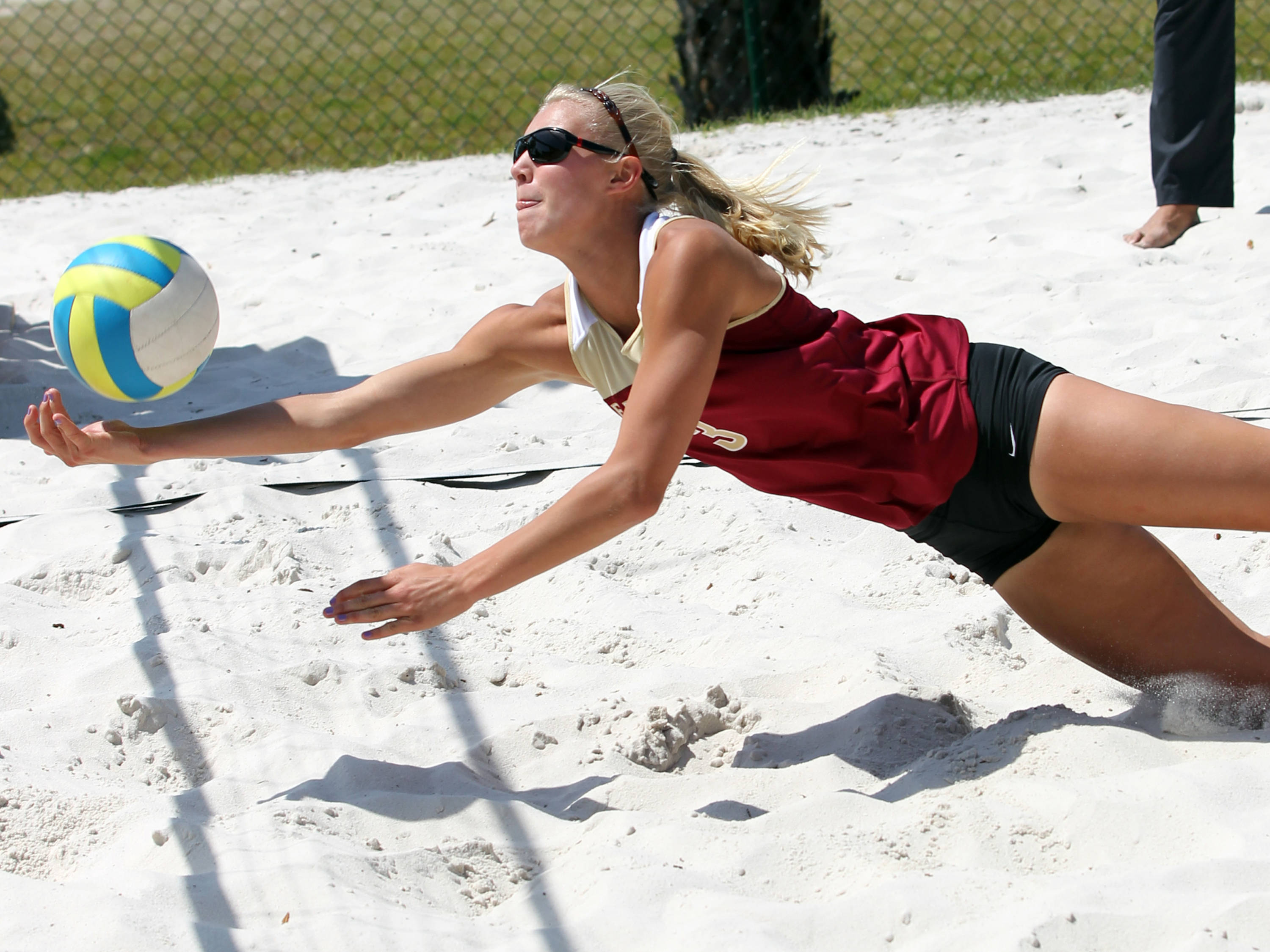 Julie Brown, FSU vs Jacksonville, 03/30/13 . (Photo by Steve Musco)