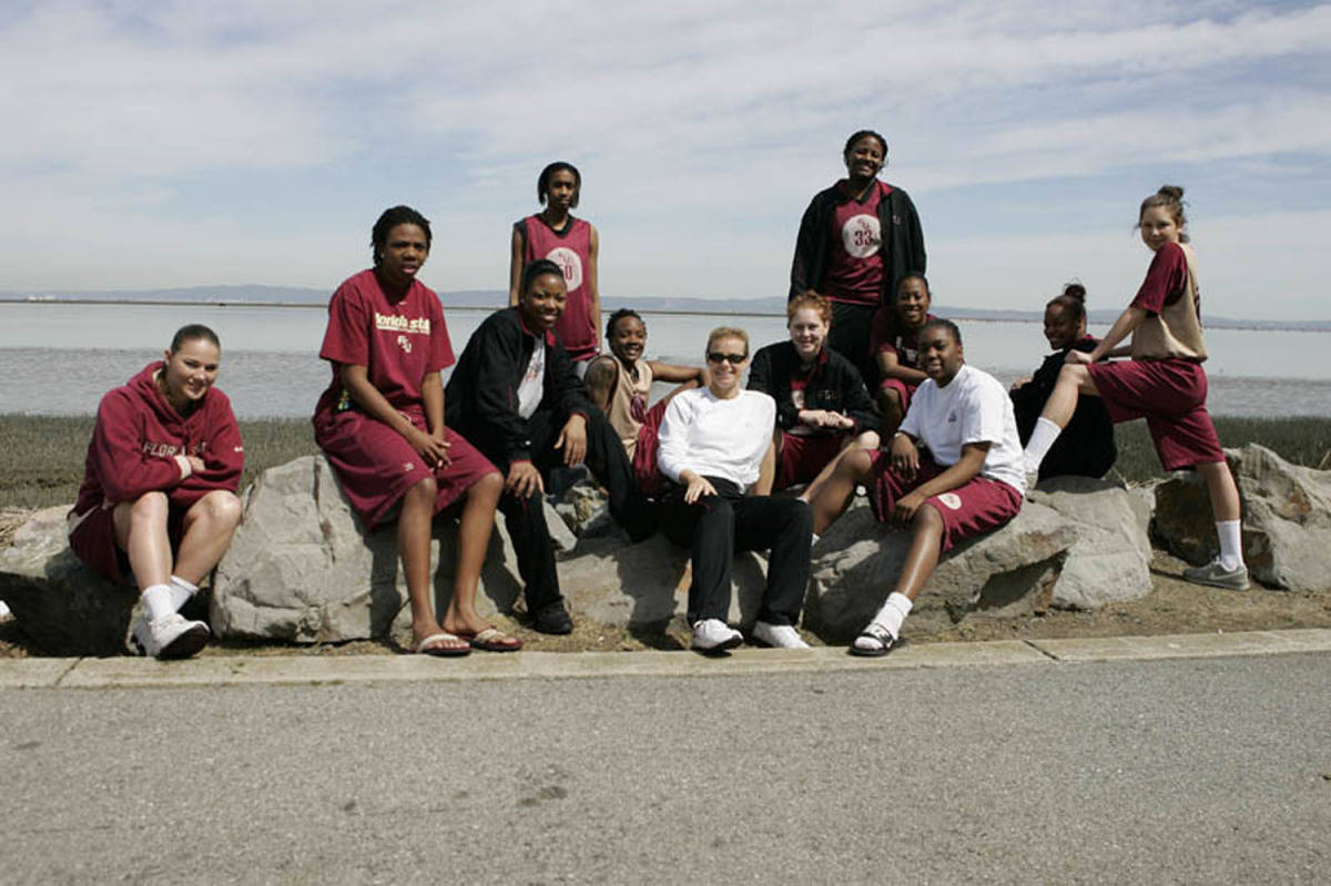 The Seminoles in front of the San Francisco Bay.