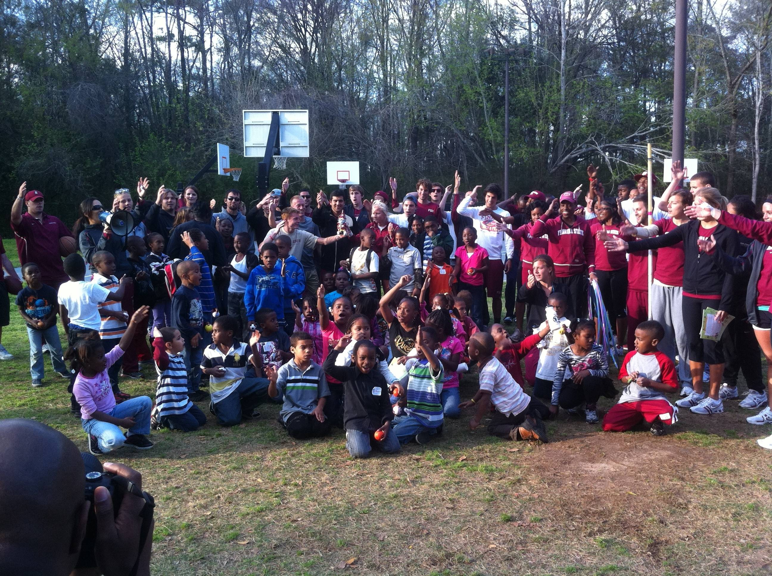 The FSU track and field and cross country teams spent time with the Boys and Girls Club for the fifth year in a row recently.