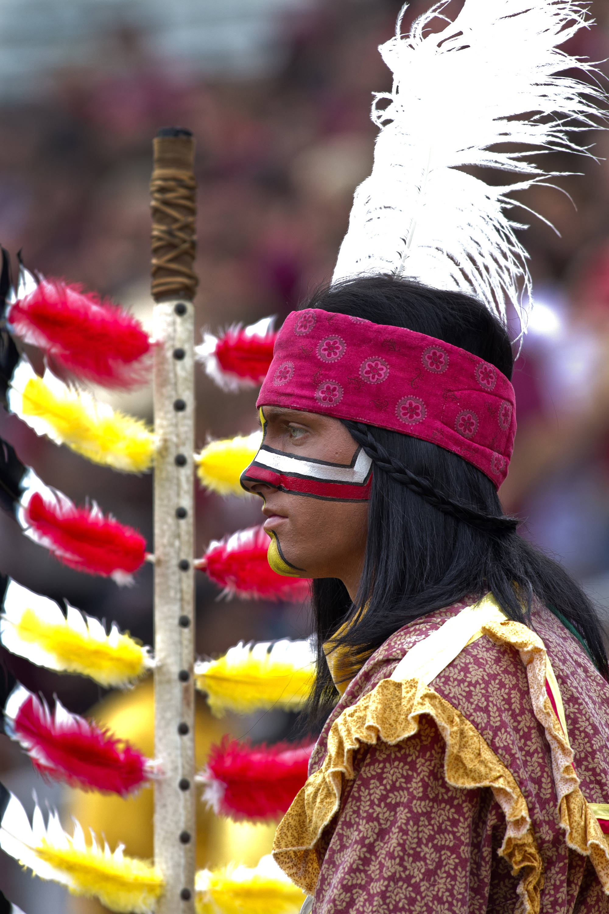 Chief Osceola, FSU vs Idaho, 11-23-13,  (Photo by Steve Musco)