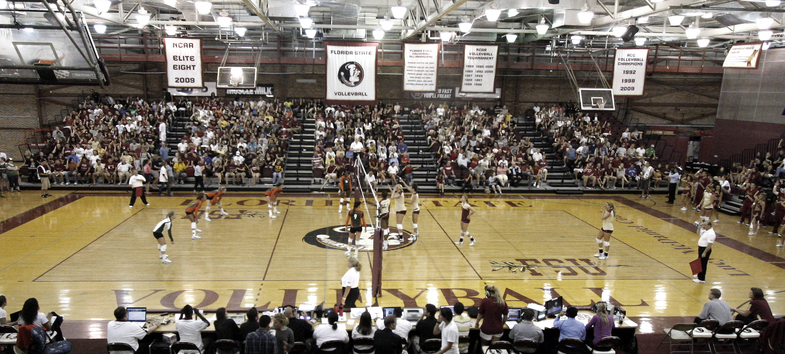 Packed house at Tully gym for FSU vs Miami 9/14/11