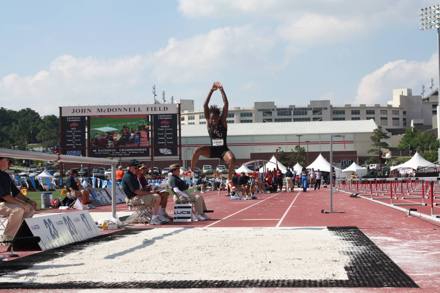 Kim Williams and her long jump