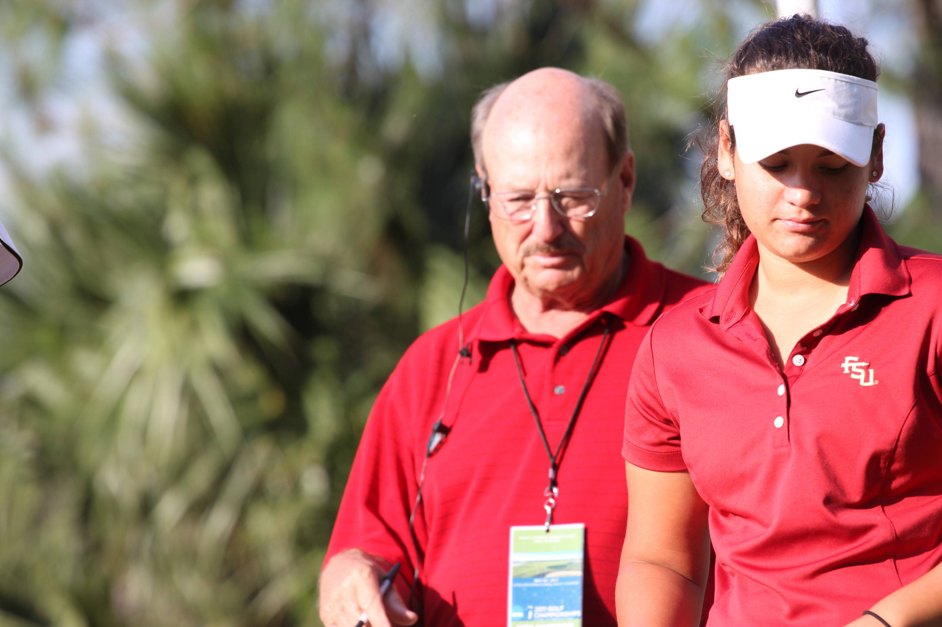 2011 NCAA Golf -- Jessica Negron is prepared to play