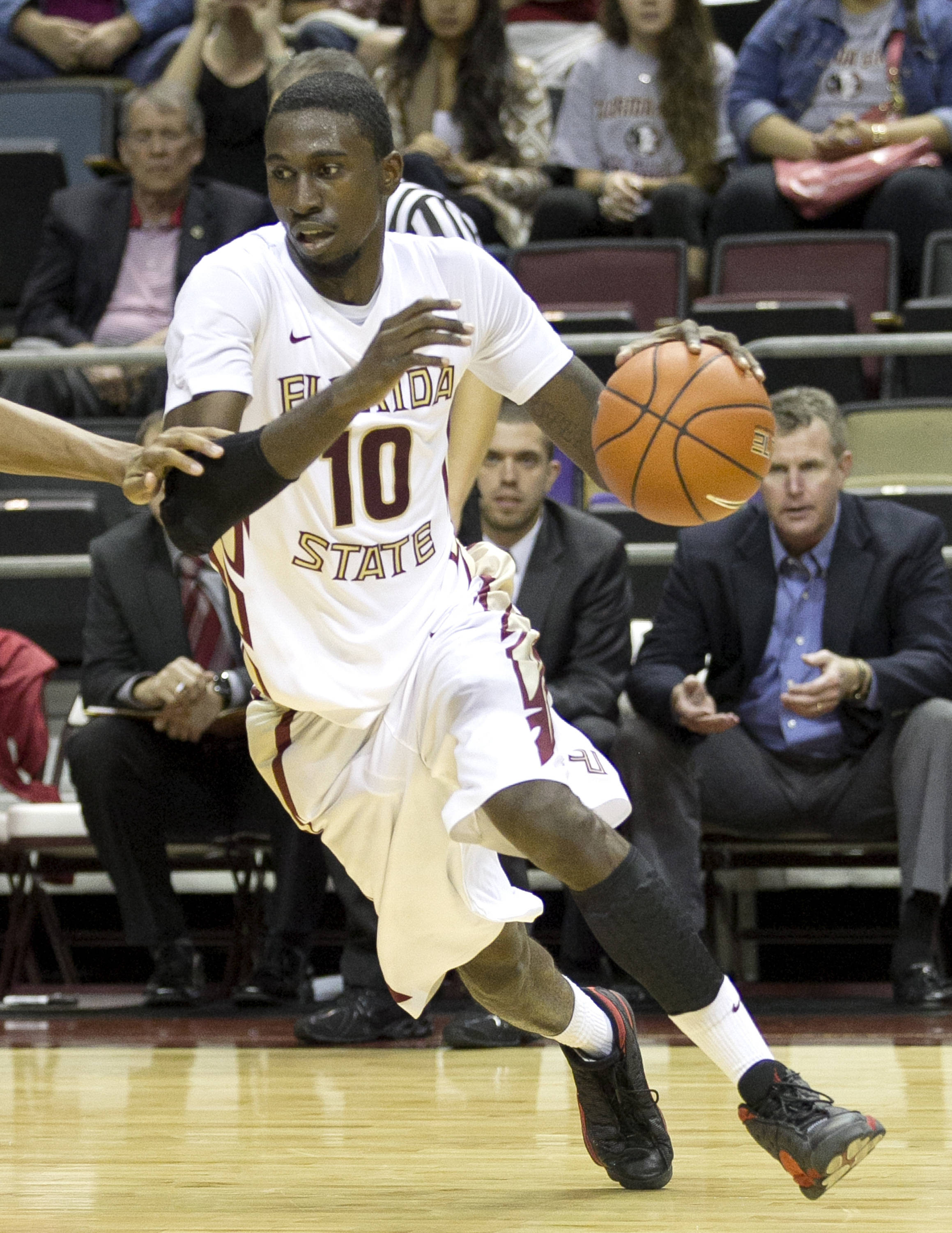 Okaro White, FSU vs Flagler College,  11-4-13, (Photo by Steve Musco)