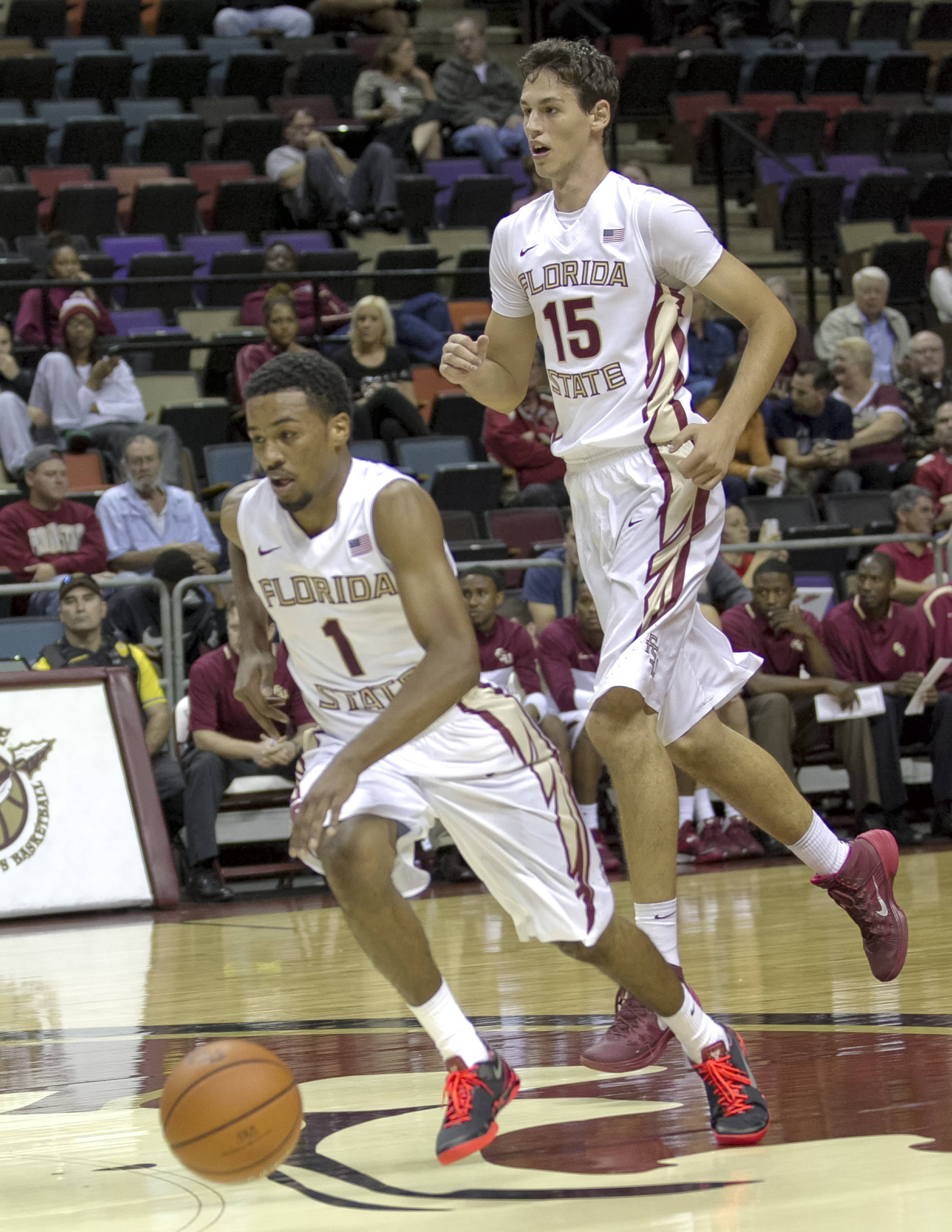 Devon Bookert, Boris Bojanovsky, FSU vs Flagler College,  11-4-13, (Photo by Steve Musco)