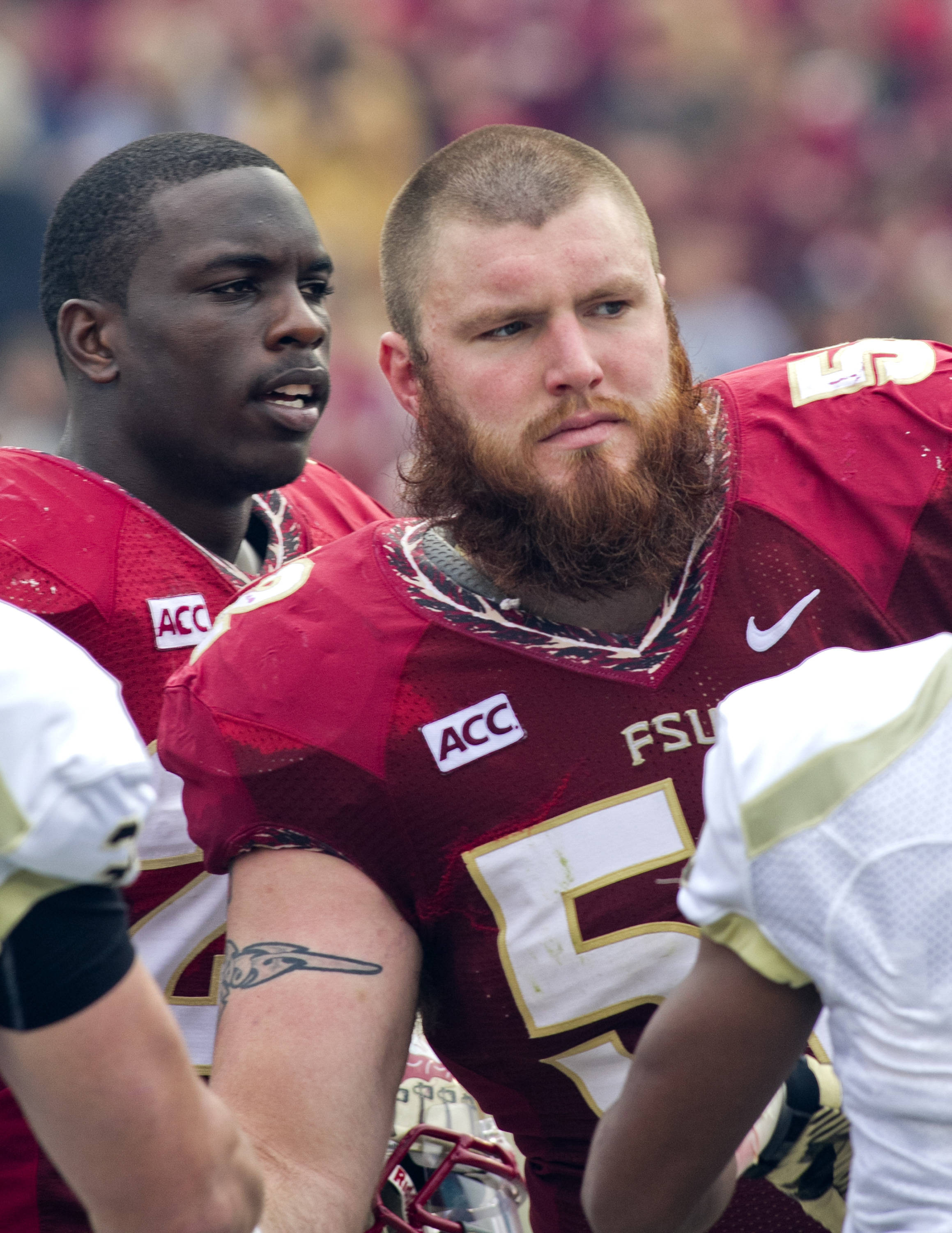 Bryan Stork (52), FSU vs Idaho, 11-23-13,  (Photo by Steve Musco)