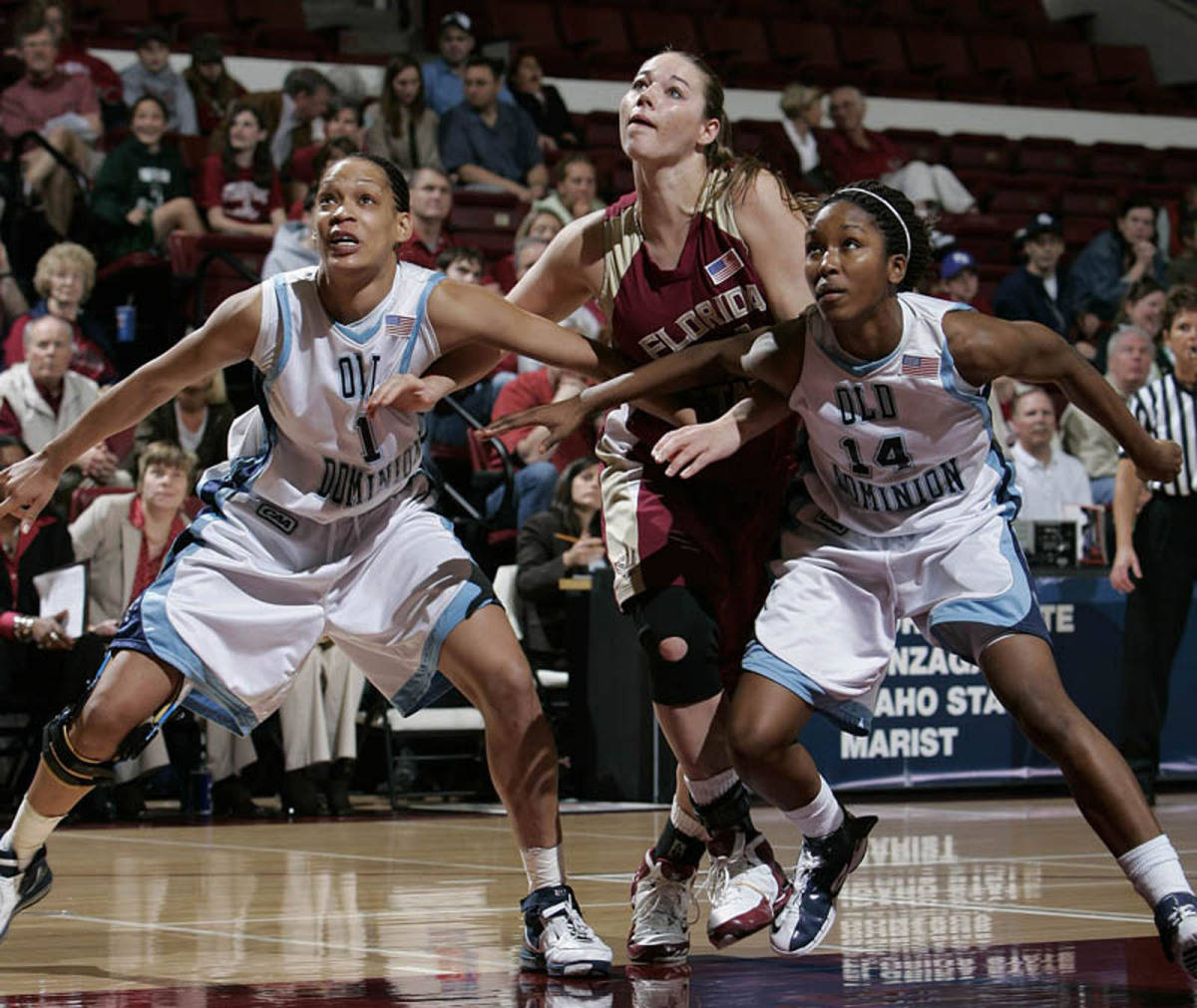 Nikki Anthony had four big rebounds in the Old Dominion win.