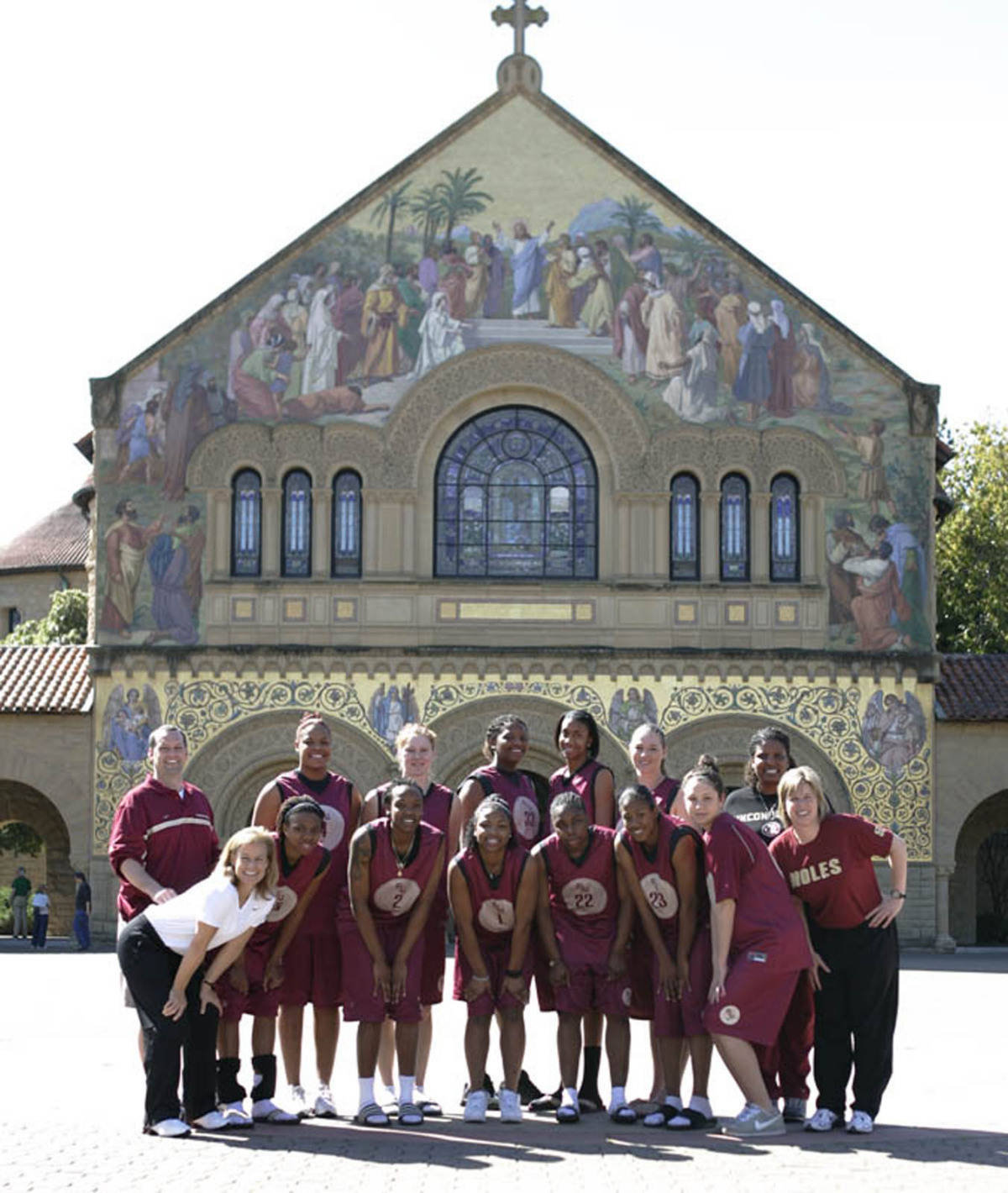 The Seminoles on the Stanford campus.