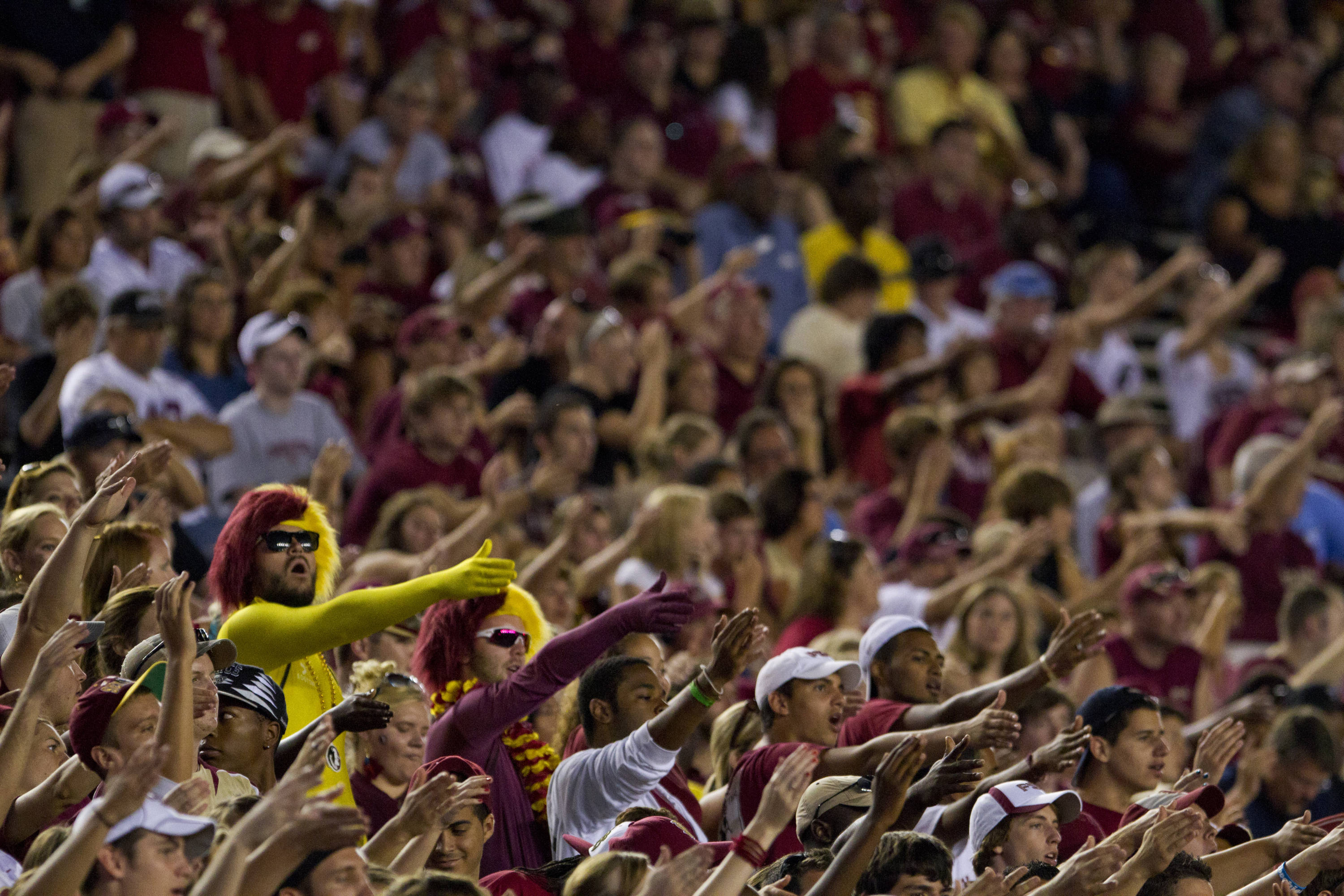 Fans cheer on the 'Noles during the game against CSU on September 10, 2011.