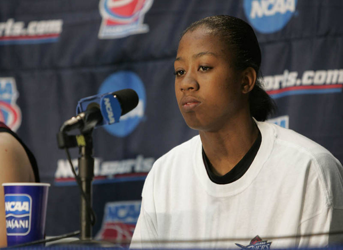 Alicia Gladden is focused on FSU's next game.
