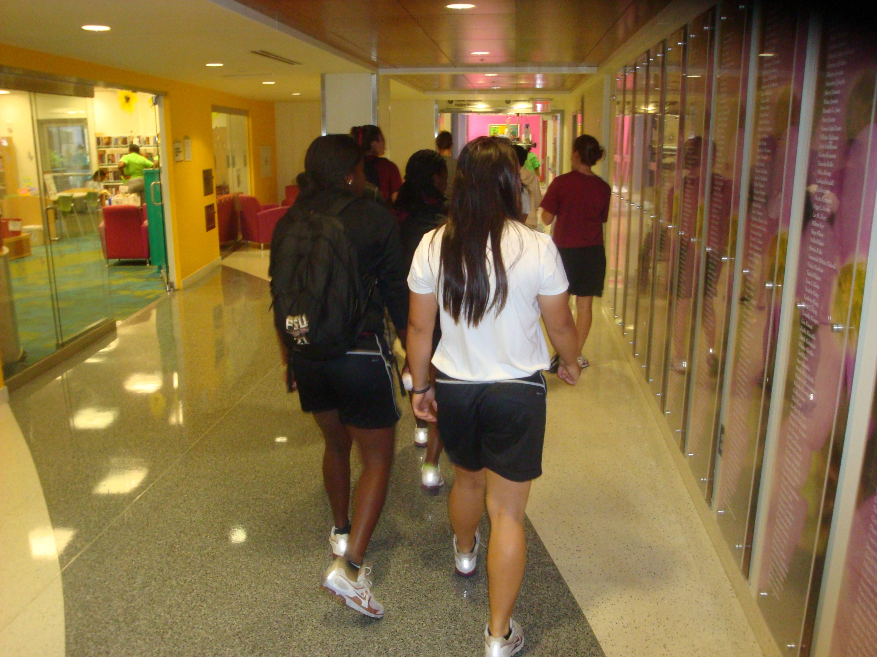 The players continue to look around the Children's Healthcare of Atlanta at Scottish Rite - which was a beautiful center!
