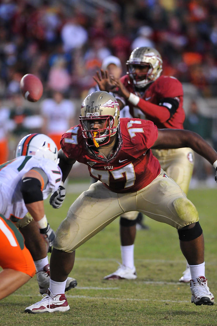 Zebrie Sanders (77) was 1st team All-ACC in 2011