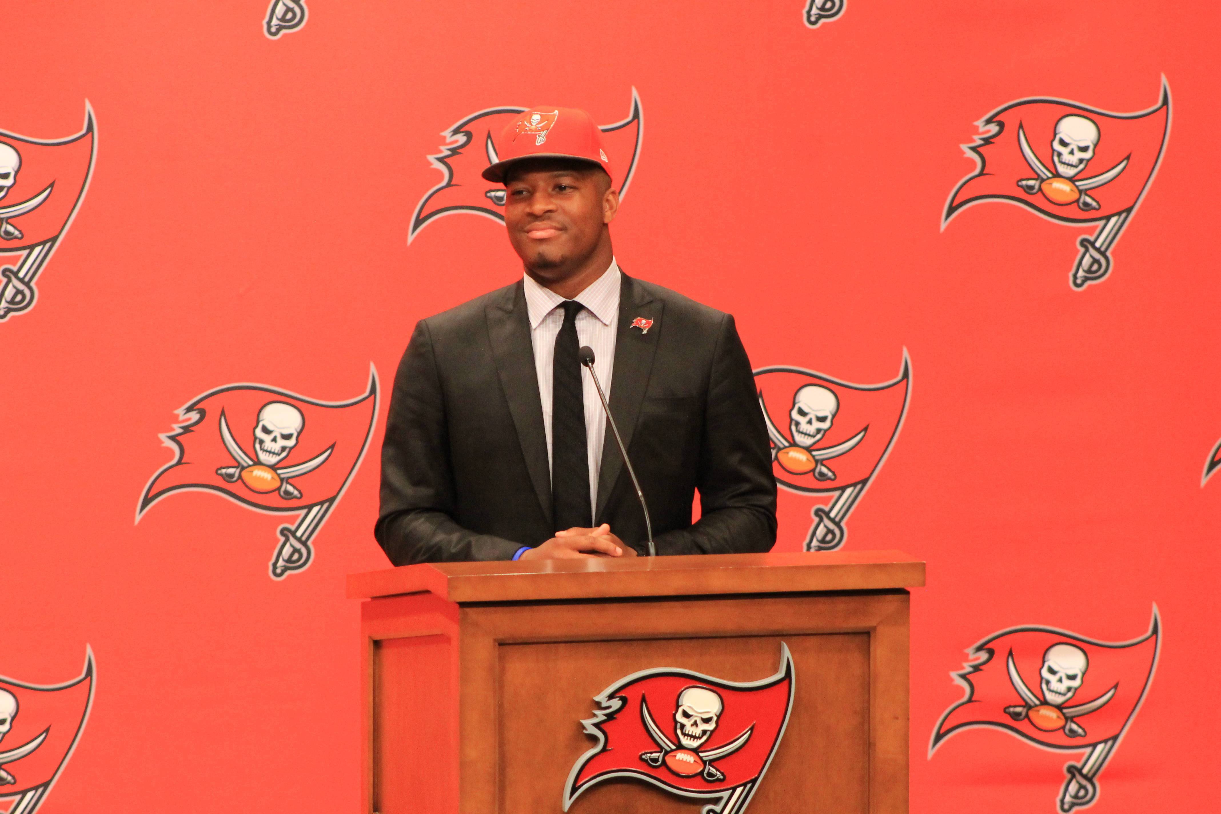 Jameis answers questions.