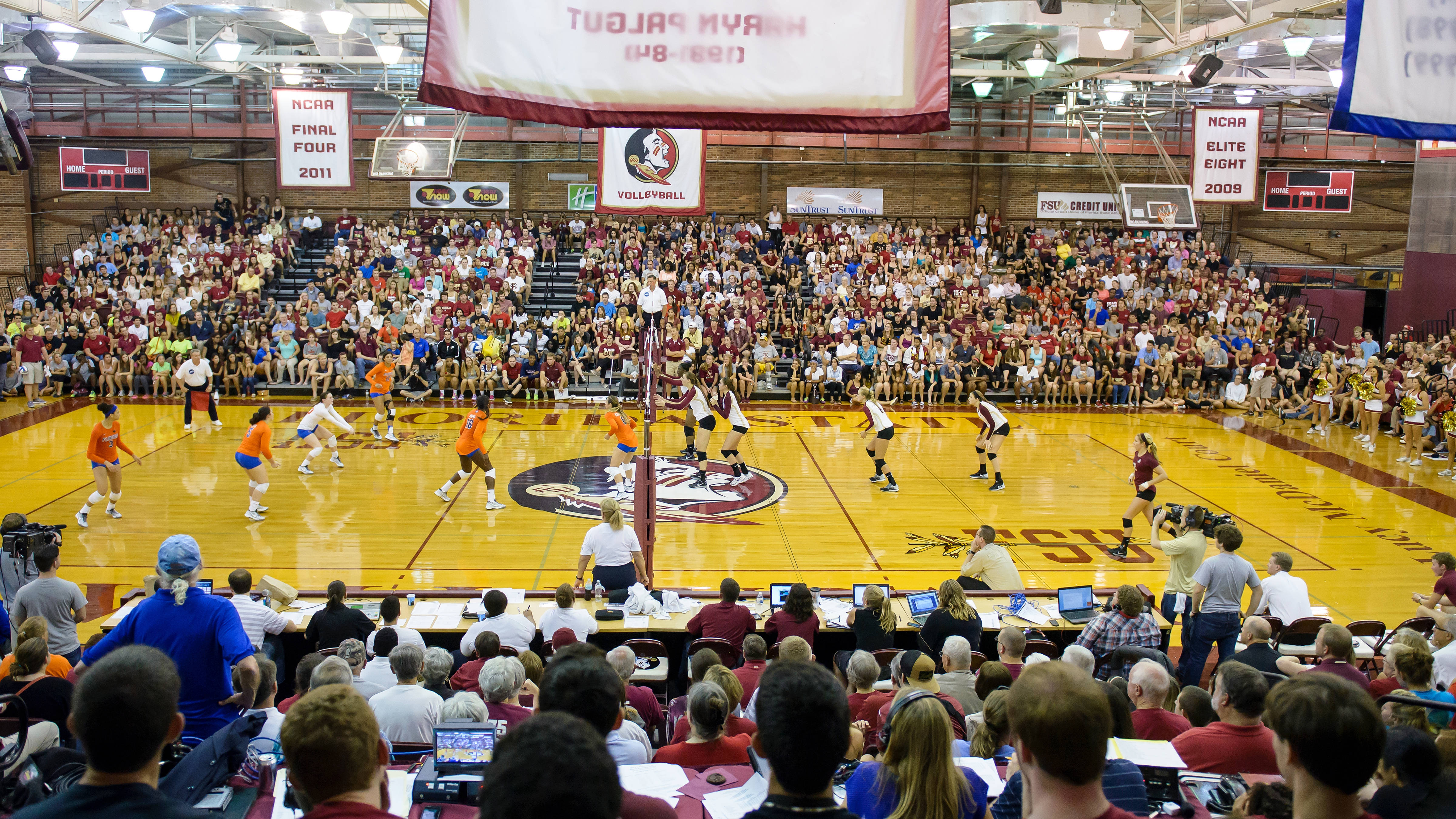The crowd in Tully Gym was awesome in the 3-2 win.