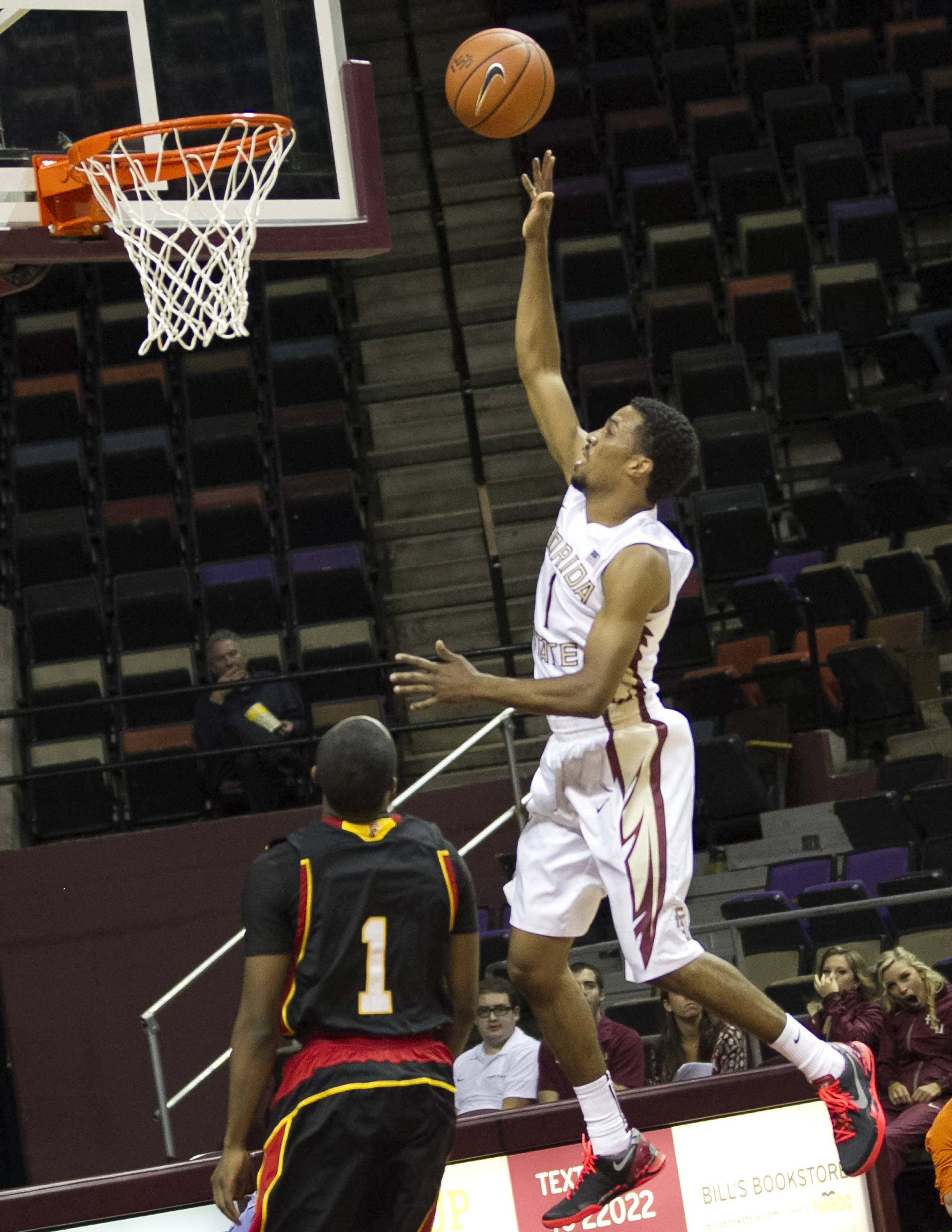 Devon Bookert, FSU vs Flagler College,  11-4-13, (Photo by Steve Musco)