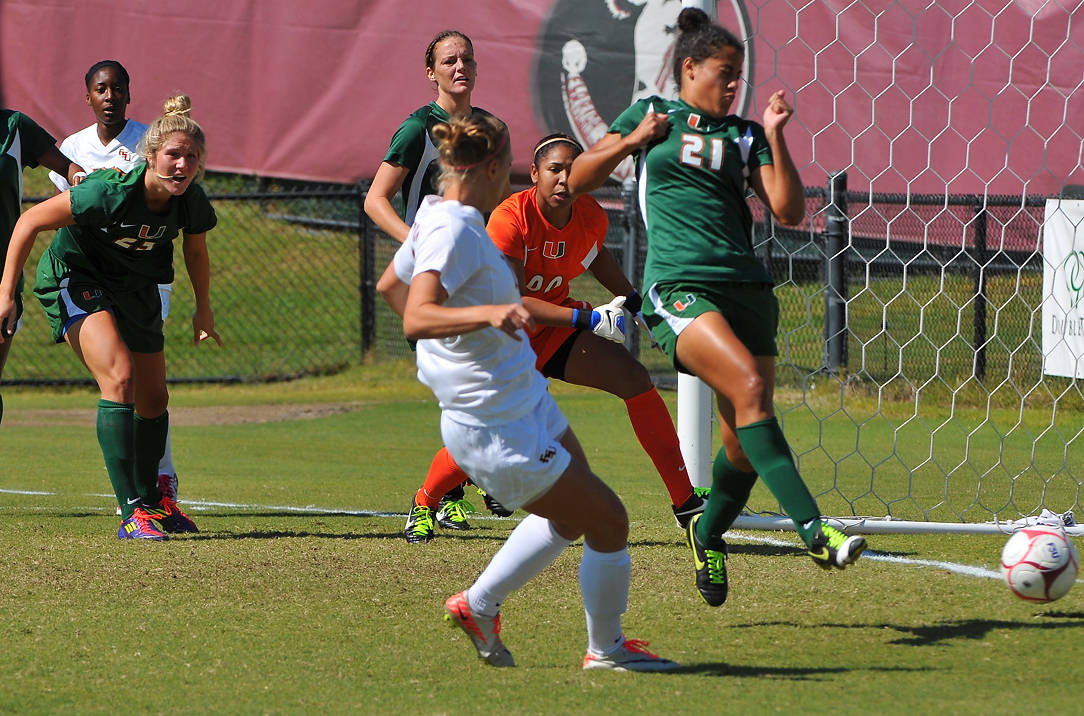 Janice Cayman scores the first goal of the game in the second minute of action.